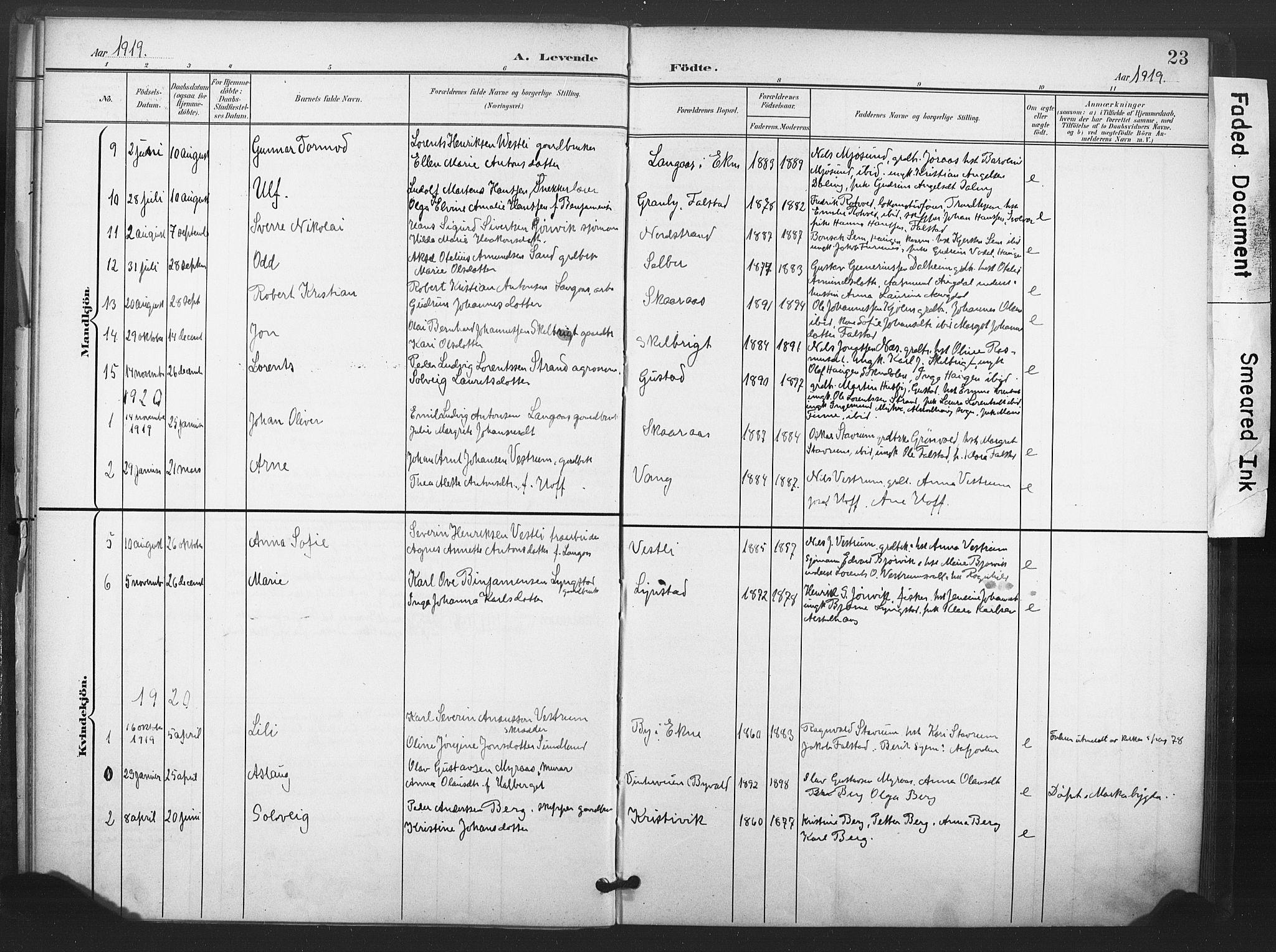 SAT, Ministerialprotokoller, klokkerbøker og fødselsregistre - Nord-Trøndelag, 719/L0179: Ministerialbok nr. 719A02, 1901-1923, s. 23