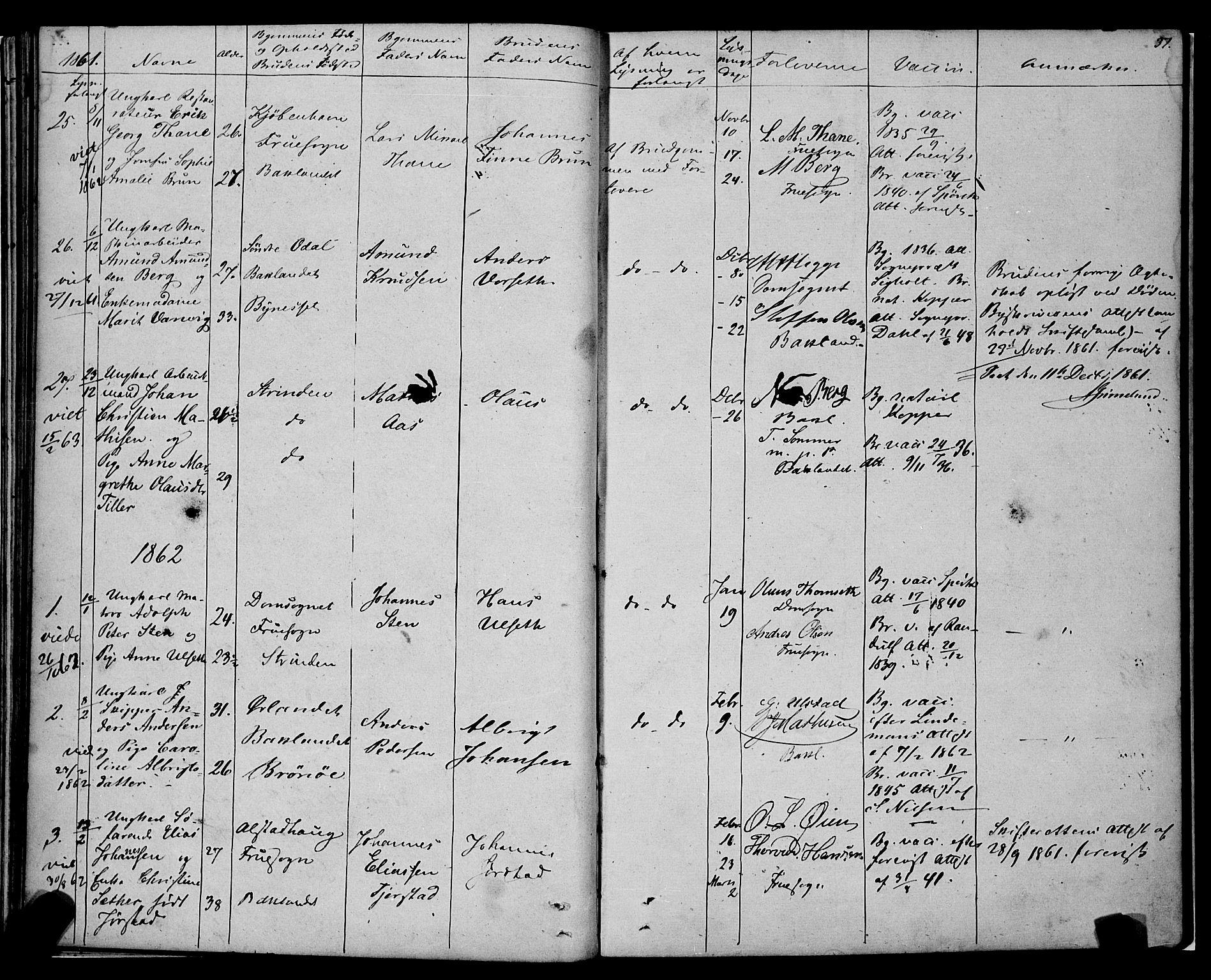 SAT, Ministerialprotokoller, klokkerbøker og fødselsregistre - Sør-Trøndelag, 604/L0187: Ministerialbok nr. 604A08, 1847-1878, s. 37