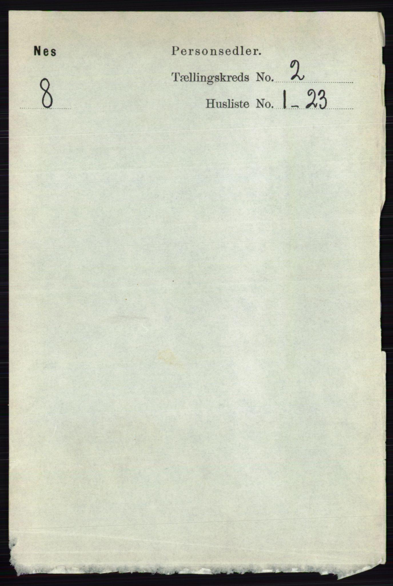 RA, Folketelling 1891 for 0236 Nes herred, 1891, s. 938