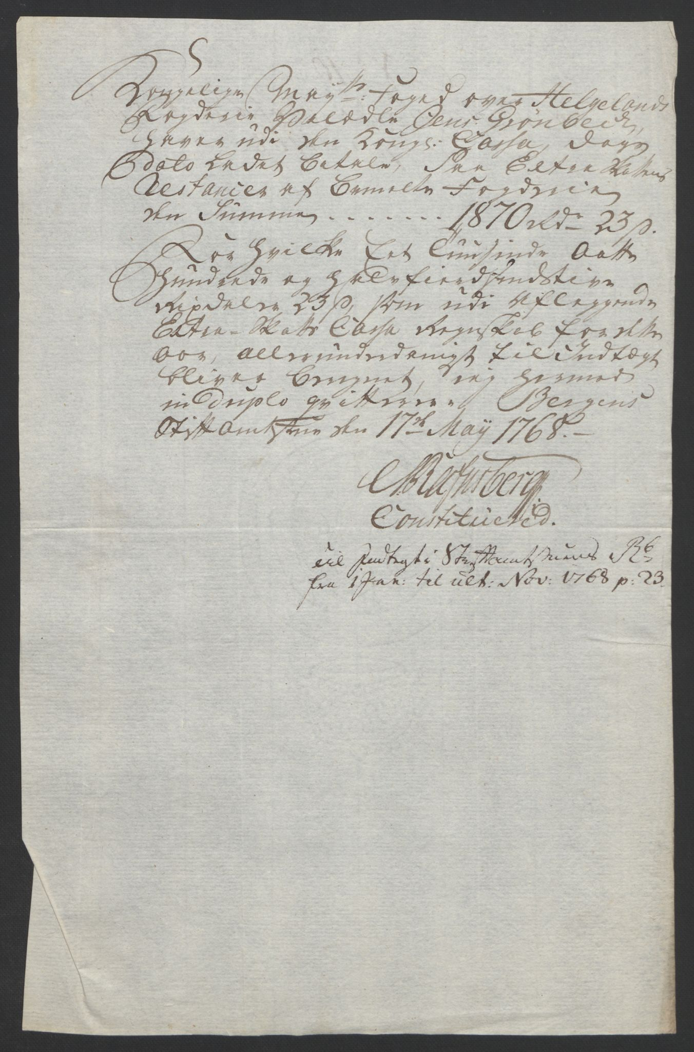 RA, Rentekammeret inntil 1814, Reviderte regnskaper, Fogderegnskap, R65/L4573: Ekstraskatten Helgeland, 1762-1772, s. 203