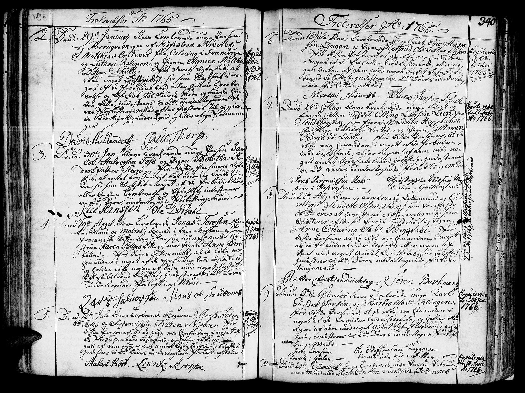 SAT, Ministerialprotokoller, klokkerbøker og fødselsregistre - Sør-Trøndelag, 602/L0103: Ministerialbok nr. 602A01, 1732-1774, s. 340