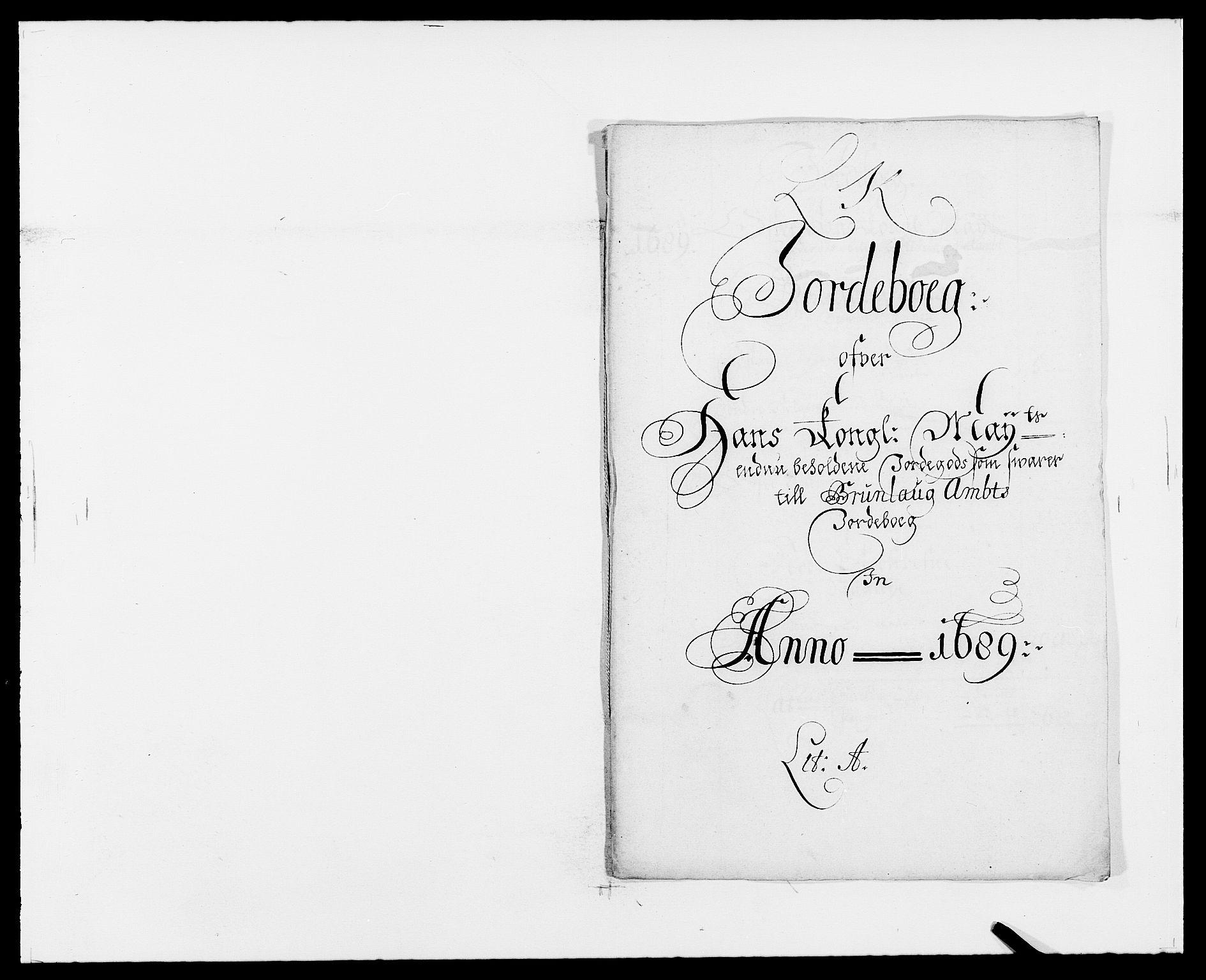 RA, Rentekammeret inntil 1814, Reviderte regnskaper, Fogderegnskap, R33/L1971: Fogderegnskap Larvik grevskap, 1688-1689, s. 167