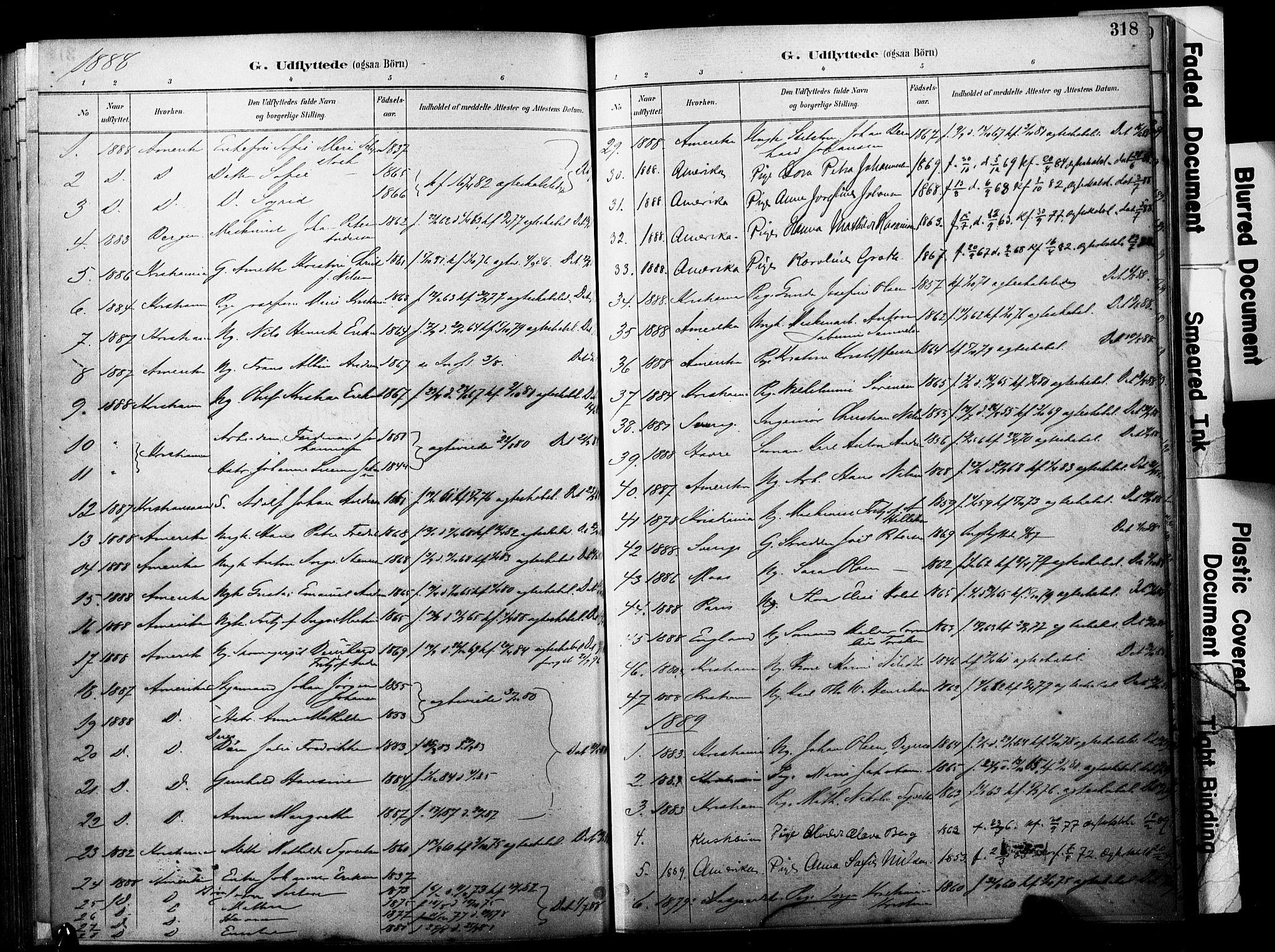 SAKO, Horten kirkebøker, F/Fa/L0004: Ministerialbok nr. 4, 1888-1895, s. 318