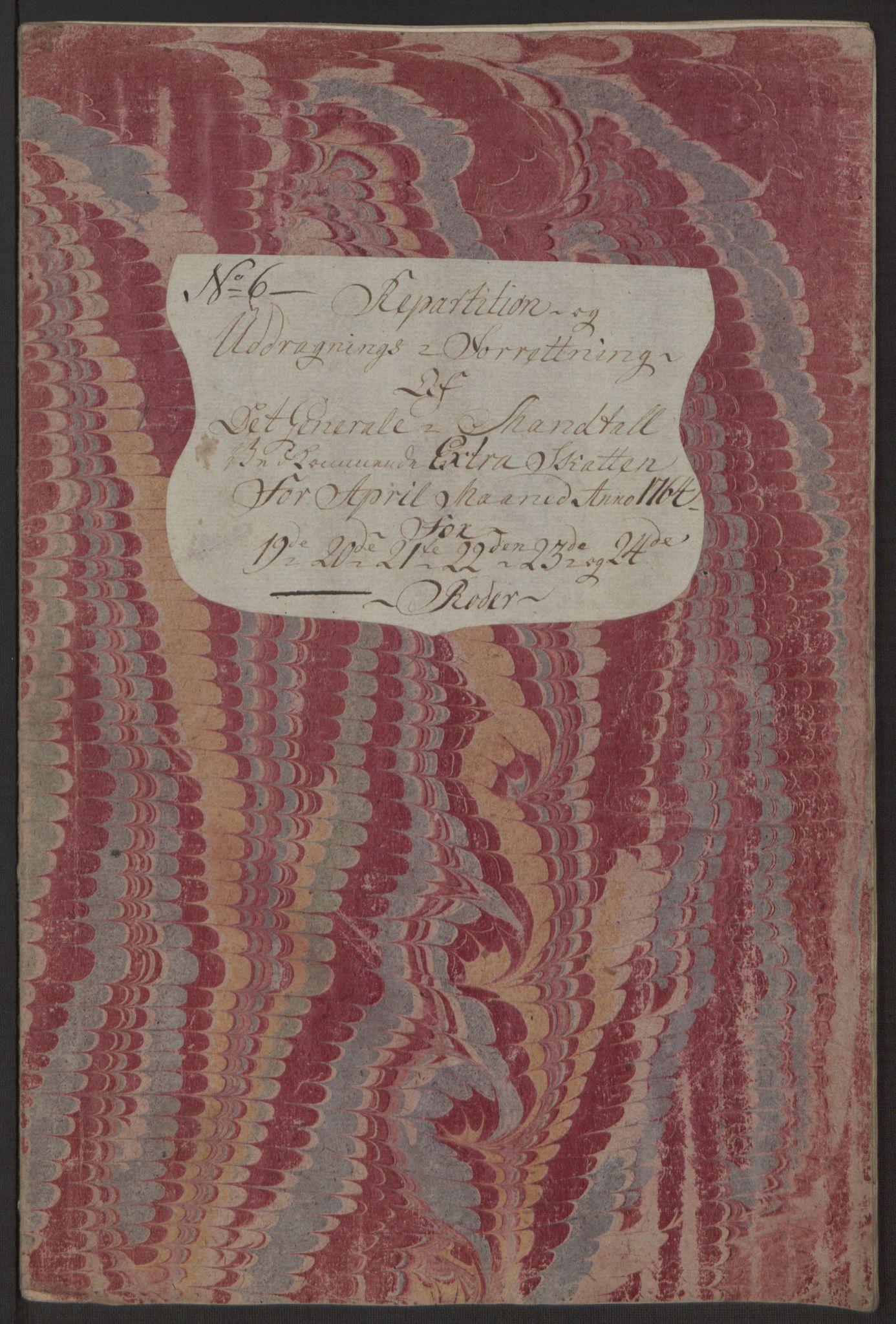 RA, Rentekammeret inntil 1814, Reviderte regnskaper, Byregnskaper, R/Rp/L0368: [P21] Kontribusjonsregnskap, 1764, s. 241