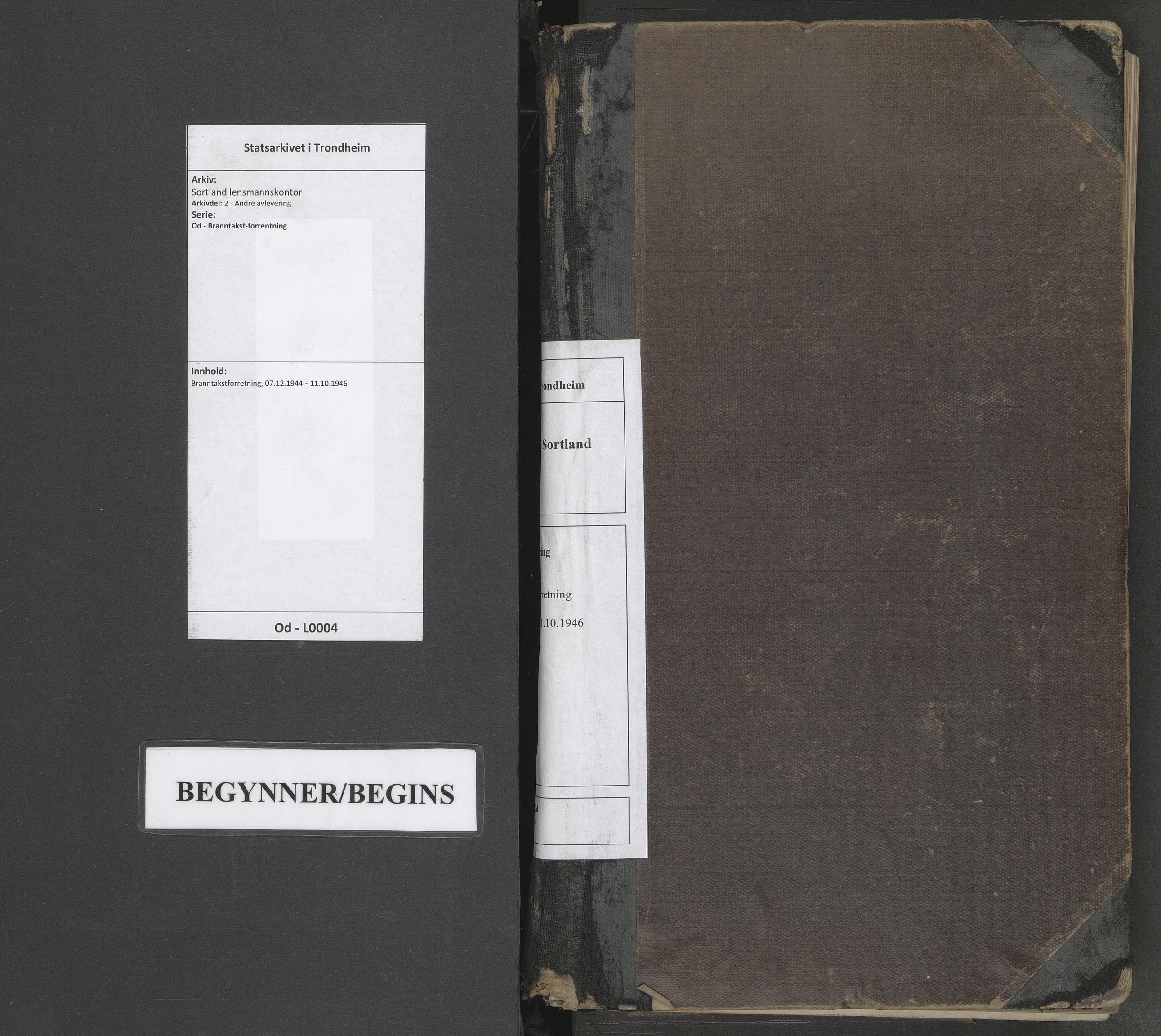 SAT, Sortland lensmannskontor, Od/L0004: Branntakstforretning, 1944-1946