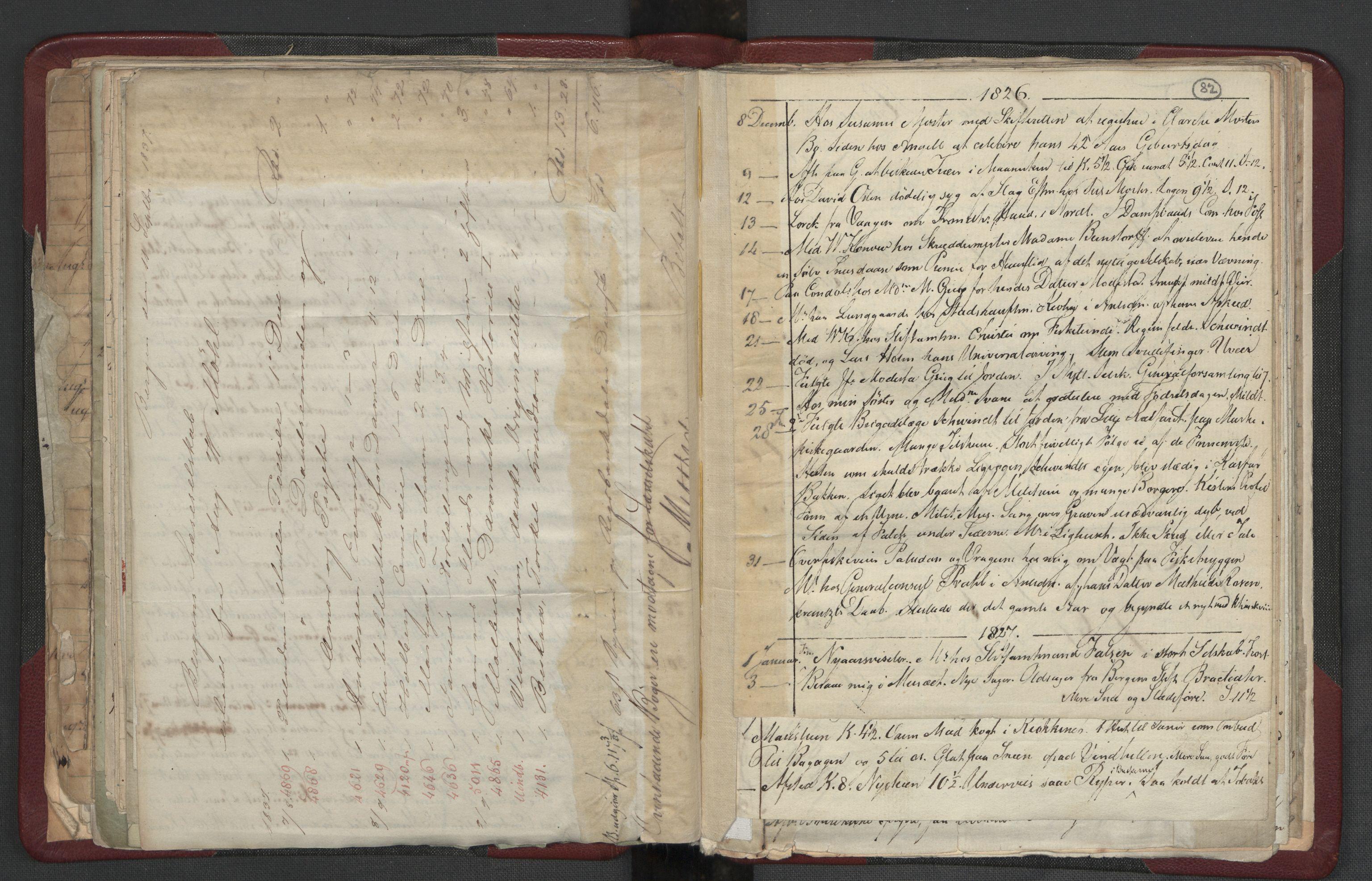 RA, Meltzer, Fredrik, F/L0004: Dagbok, 1822-1830, s. 81b-82a