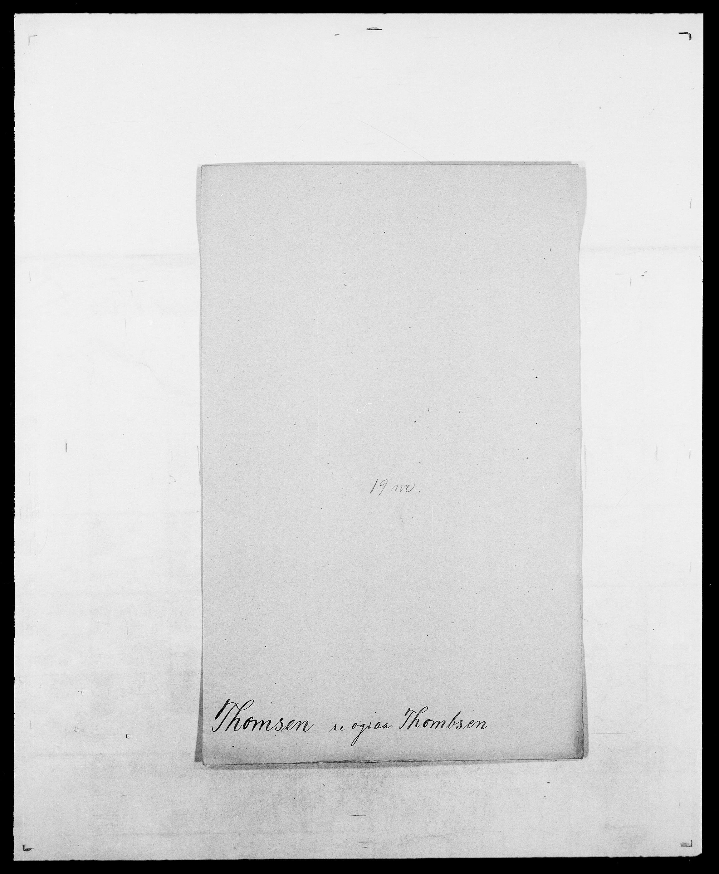 SAO, Delgobe, Charles Antoine - samling, D/Da/L0038: Svanenskjold - Thornsohn, s. 806
