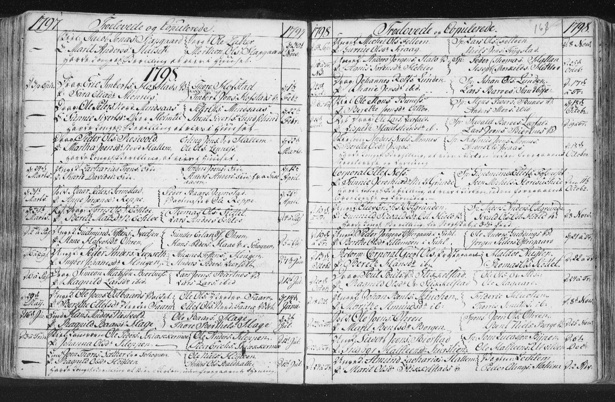 SAT, Ministerialprotokoller, klokkerbøker og fødselsregistre - Nord-Trøndelag, 723/L0232: Ministerialbok nr. 723A03, 1781-1804, s. 168