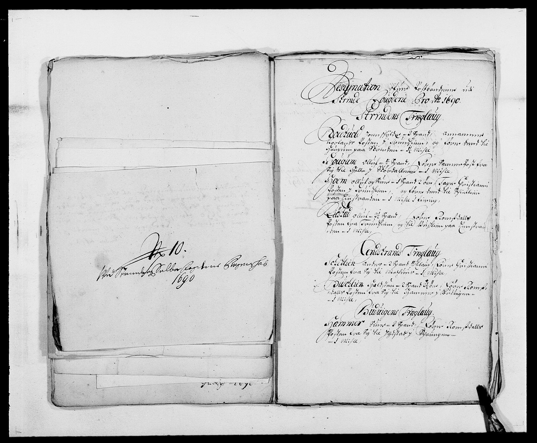 RA, Rentekammeret inntil 1814, Reviderte regnskaper, Fogderegnskap, R61/L4102: Fogderegnskap Strinda og Selbu, 1689-1690, s. 279