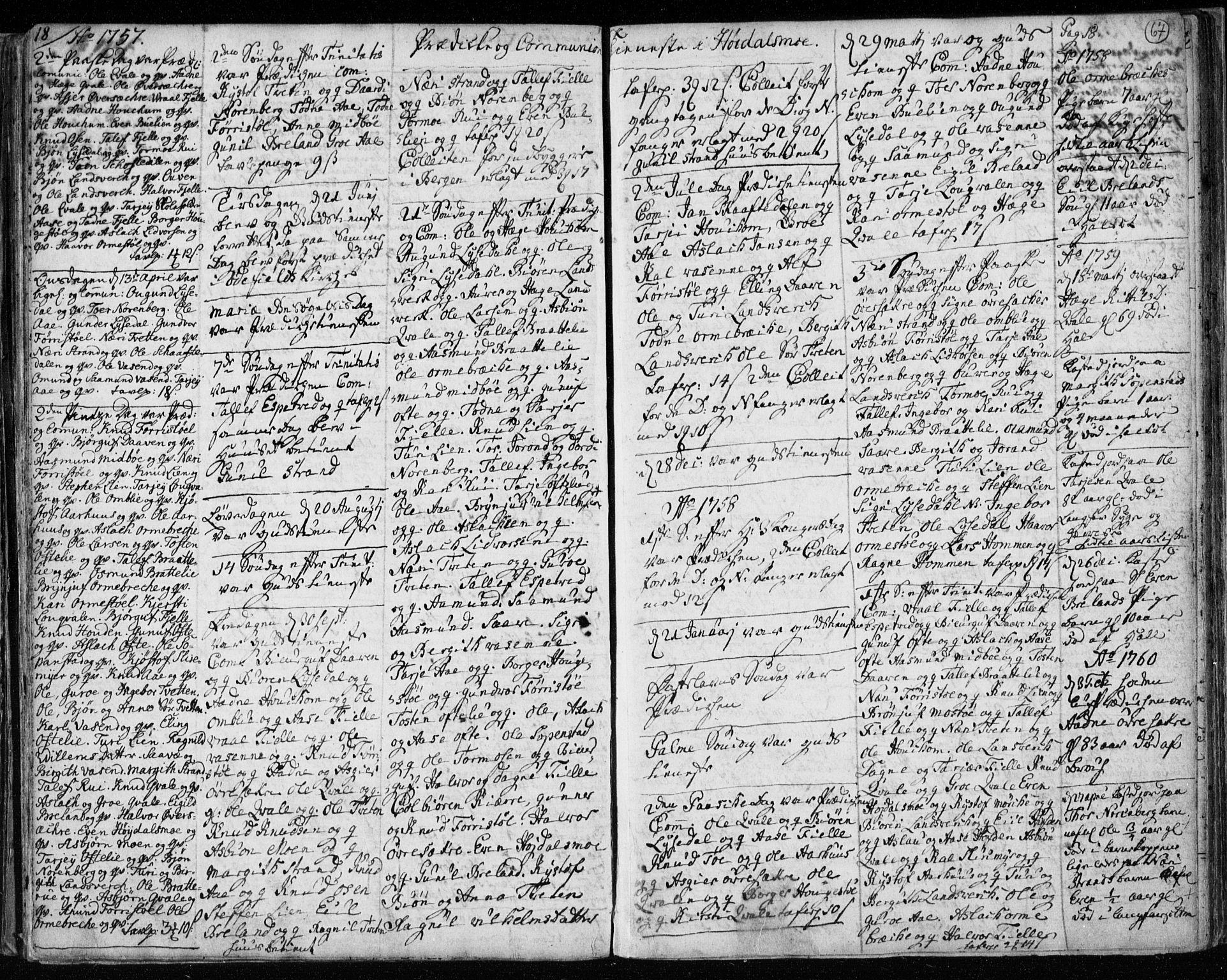 SAKO, Lårdal kirkebøker, F/Fa/L0003: Ministerialbok nr. I 3, 1754-1790, s. 67