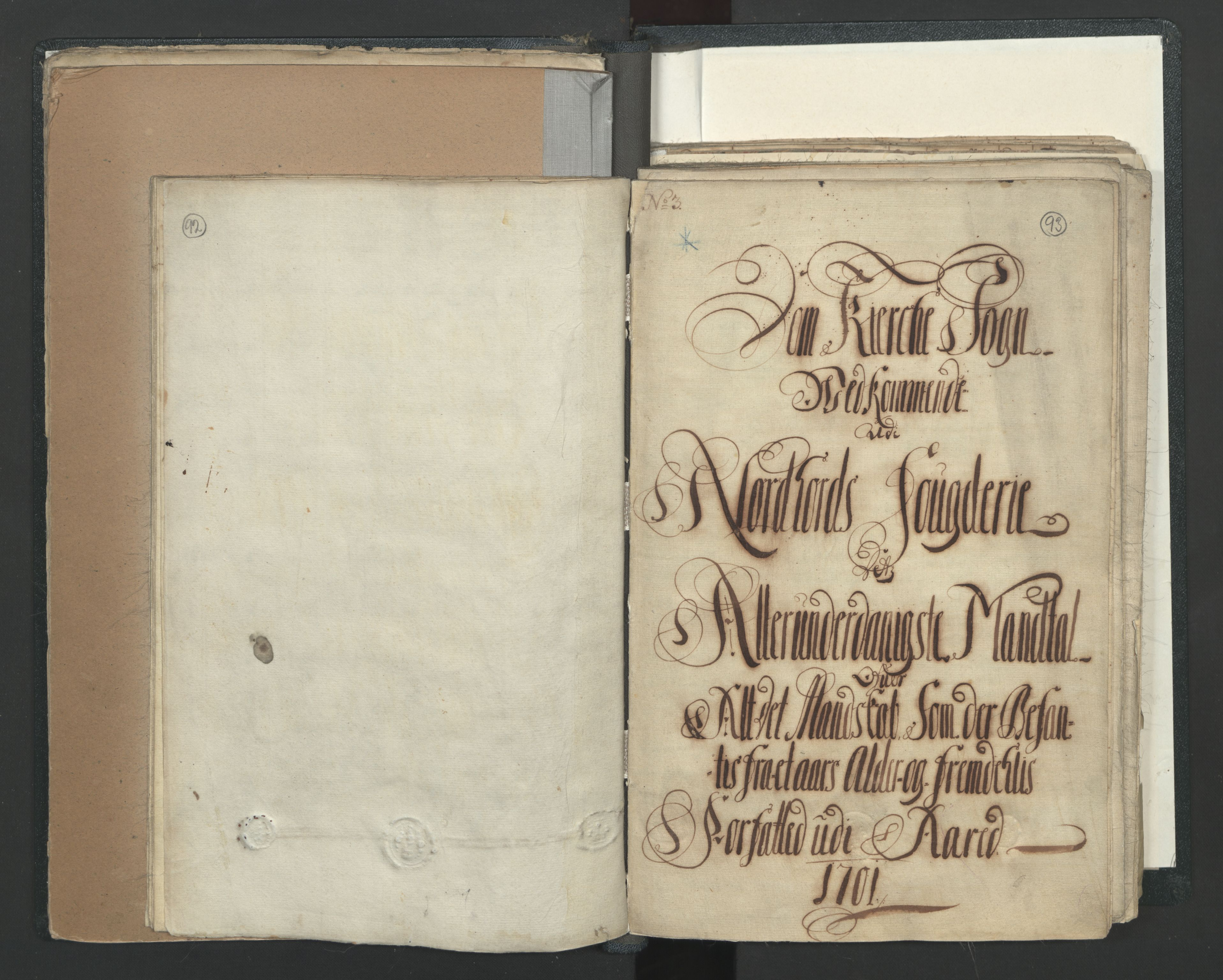RA, Manntallet 1701, nr. 7: Nordhordland og Voss fogderi, 1701, s. 92-93