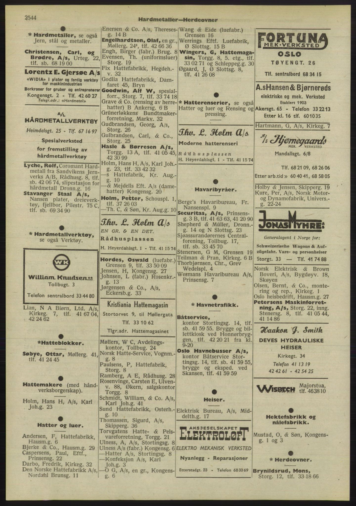 PUBL, Kristiania/Oslo adressebok, 1955, s. 2544