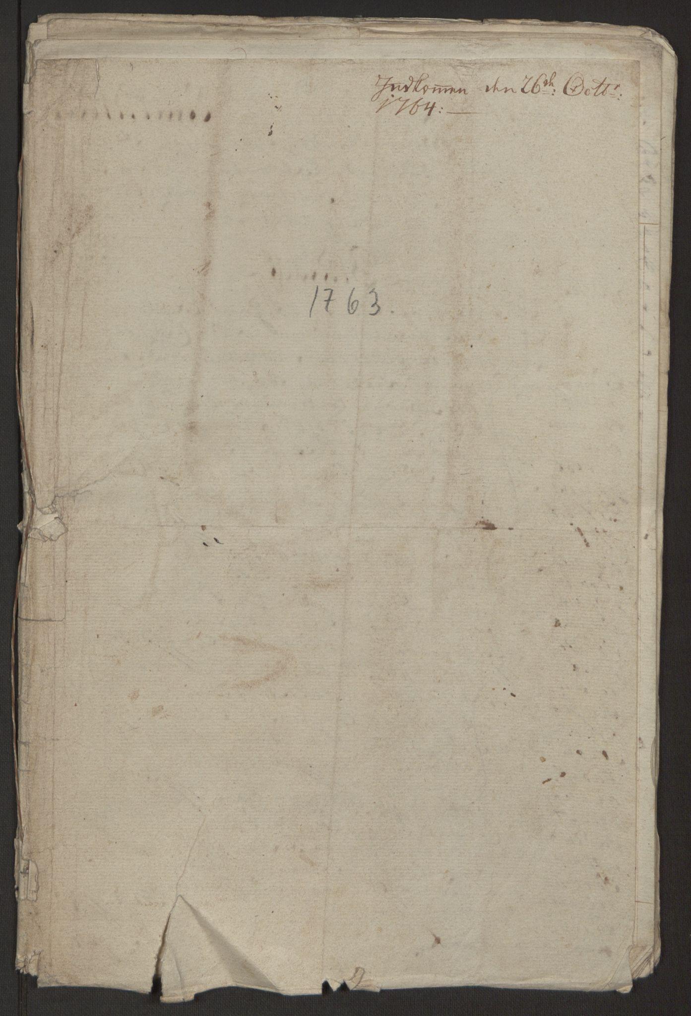 RA, Rentekammeret inntil 1814, Reviderte regnskaper, Byregnskaper, R/Rp/L0366: [P20] Kontribusjonsregnskap, 1763, s. 11