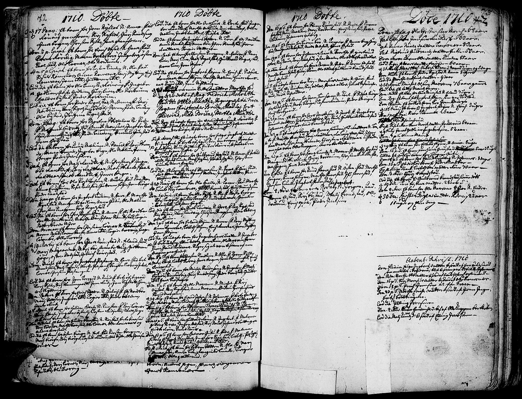 SAH, Ringebu prestekontor, Ministerialbok nr. 1, 1696-1733, s. 72-73