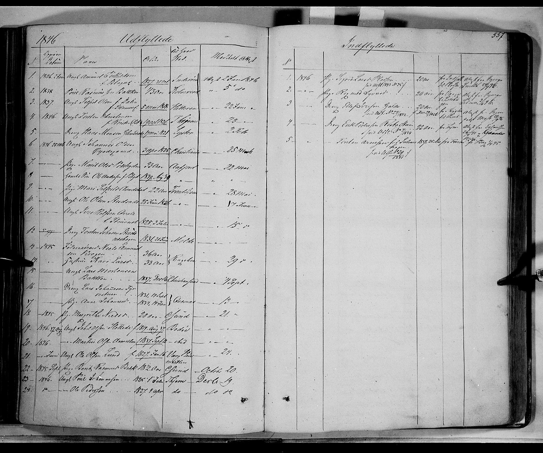 SAH, Lom prestekontor, K/L0006: Ministerialbok nr. 6B, 1837-1863, s. 557