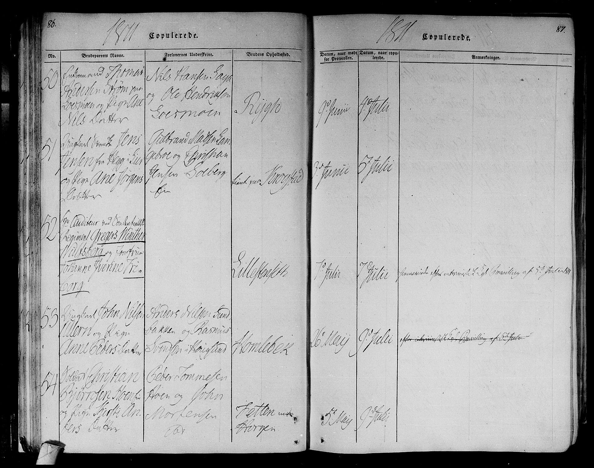 SAKO, Eiker kirkebøker, F/Fa/L0010: Ministerialbok nr. I 10, 1806-1815, s. 86-87