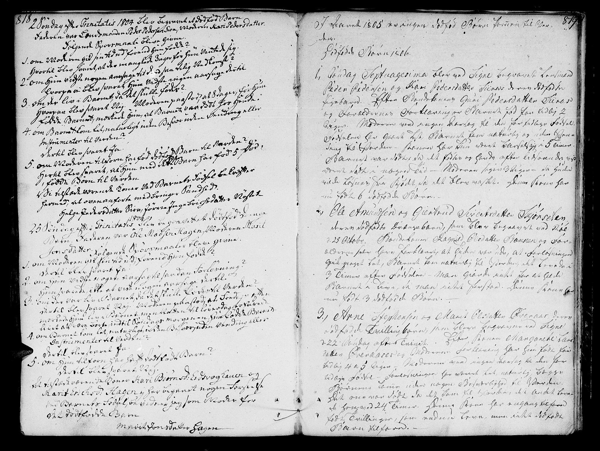 SAT, Ministerialprotokoller, klokkerbøker og fødselsregistre - Møre og Romsdal, 551/L0622: Ministerialbok nr. 551A02, 1804-1845, s. 818-819