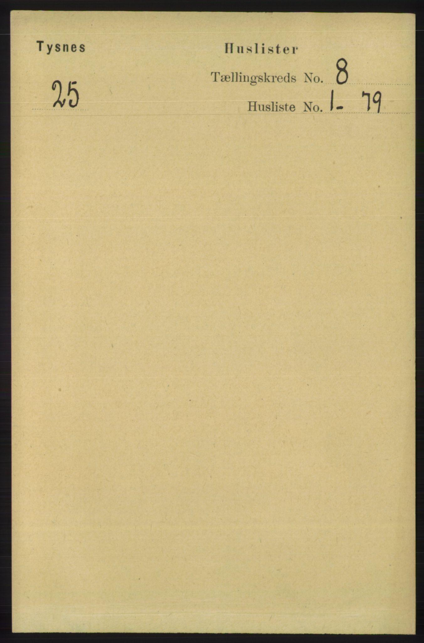 RA, Folketelling 1891 for 1223 Tysnes herred, 1891, s. 3577