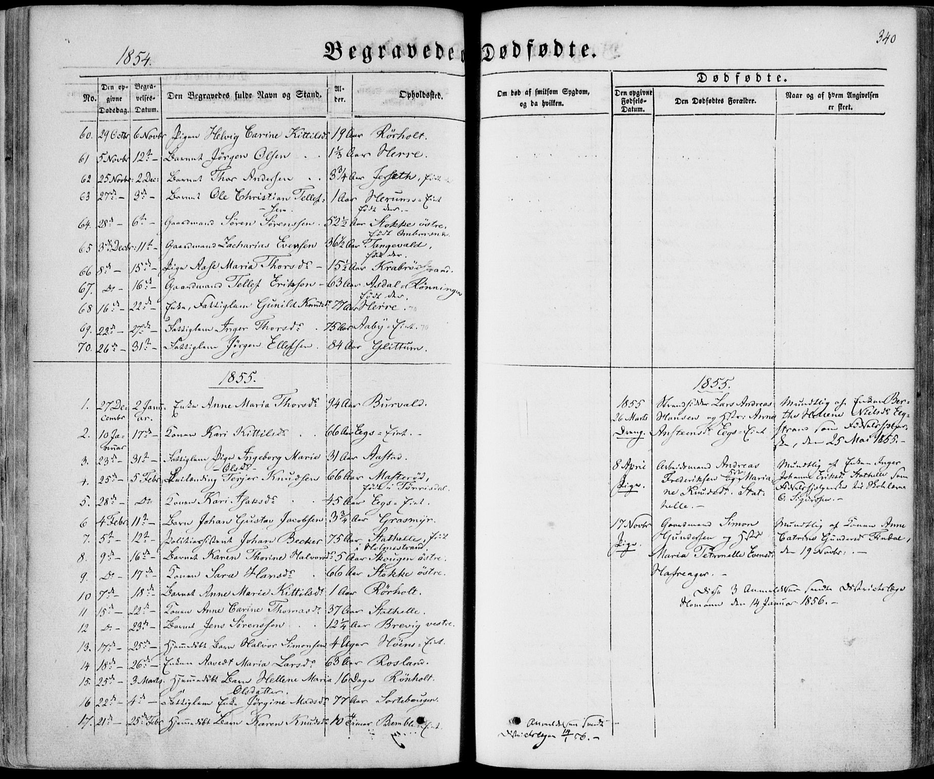 SAKO, Bamble kirkebøker, F/Fa/L0005: Ministerialbok nr. I 5, 1854-1869, s. 340