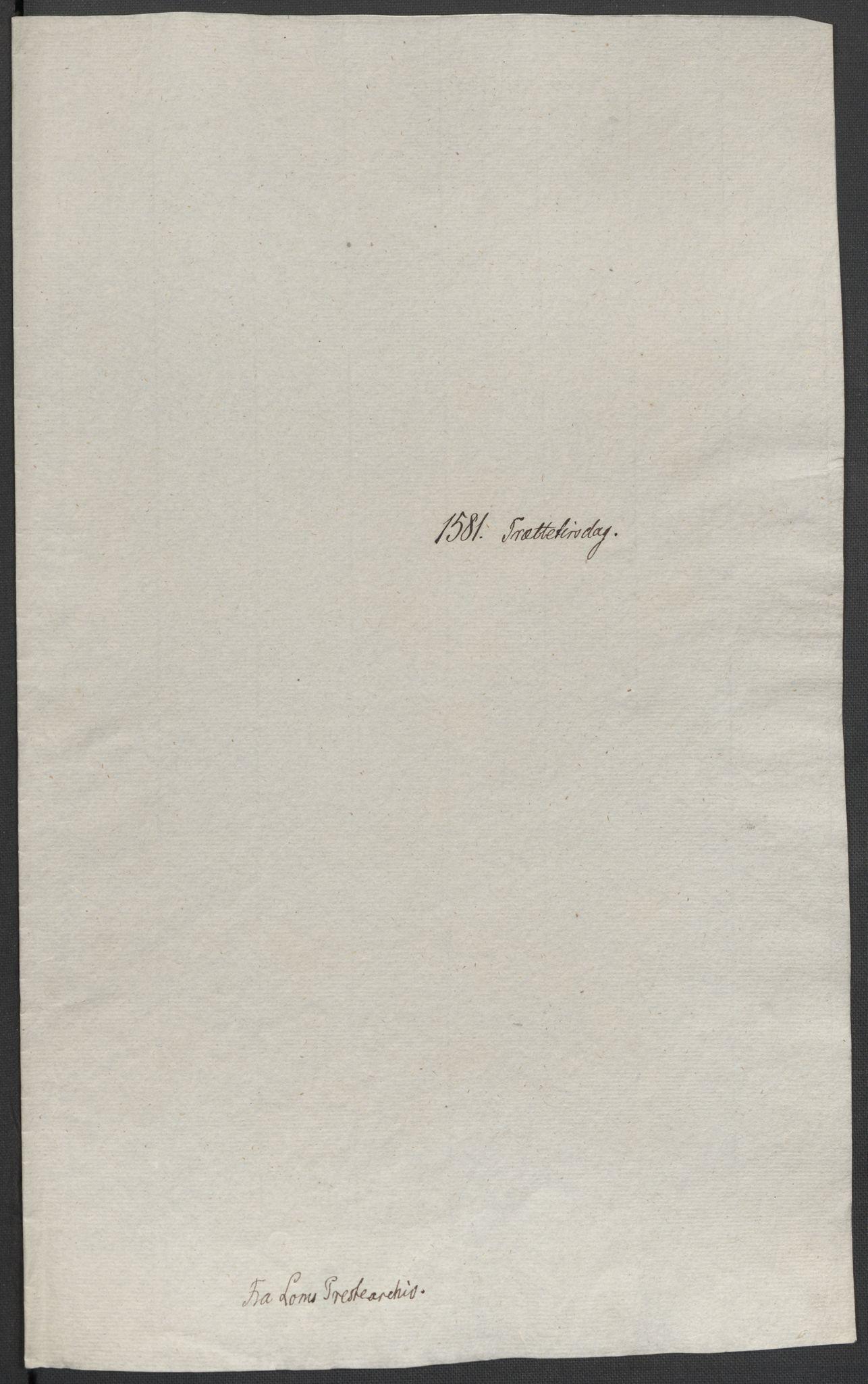 RA, Riksarkivets diplomsamling, F02/L0083: Dokumenter, 1581, s. 10