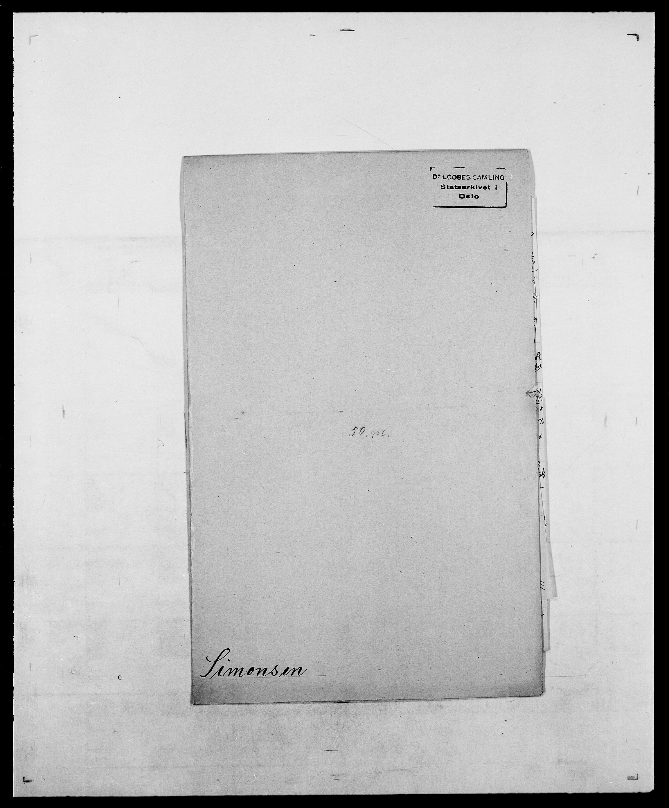 SAO, Delgobe, Charles Antoine - samling, D/Da/L0035: Schnabel - sjetman, s. 796