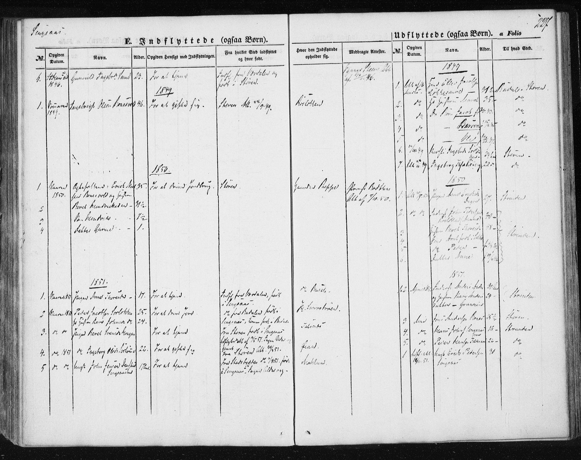 SAT, Ministerialprotokoller, klokkerbøker og fødselsregistre - Sør-Trøndelag, 685/L0964: Ministerialbok nr. 685A06 /2, 1846-1859, s. 227