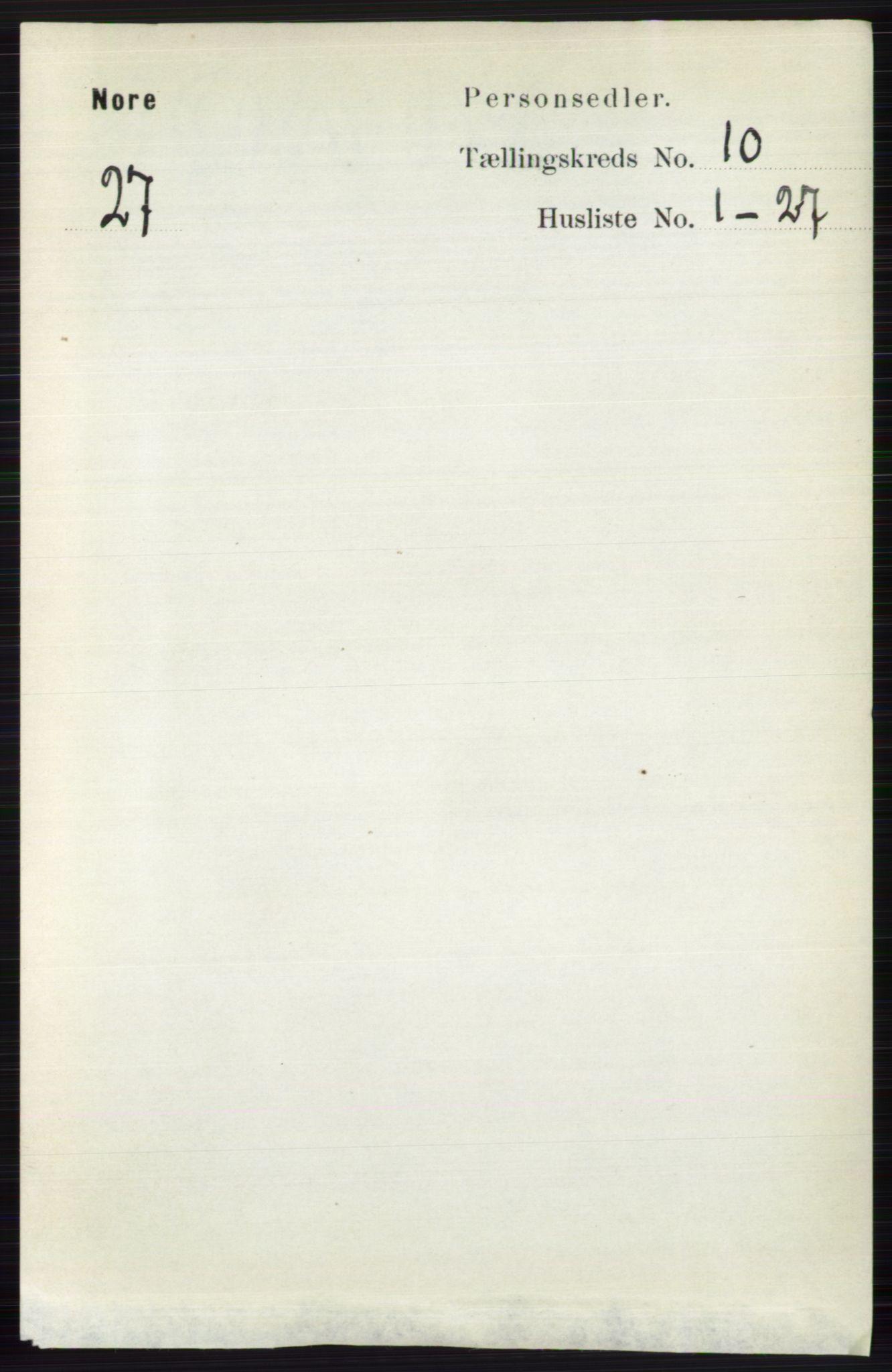 RA, Folketelling 1891 for 0633 Nore herred, 1891, s. 3544