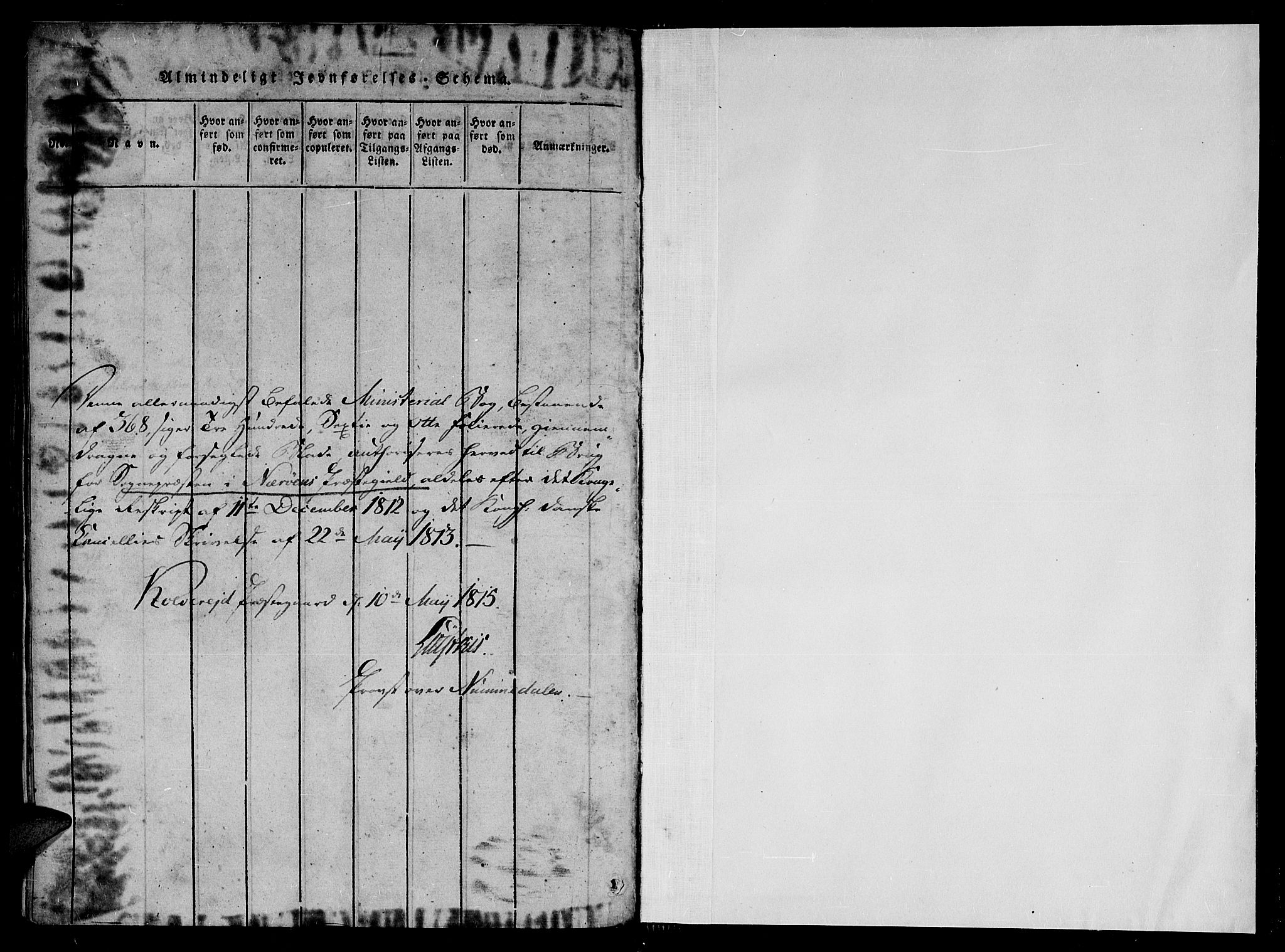 SAT, Ministerialprotokoller, klokkerbøker og fødselsregistre - Nord-Trøndelag, 784/L0667: Ministerialbok nr. 784A03 /1, 1816-1829