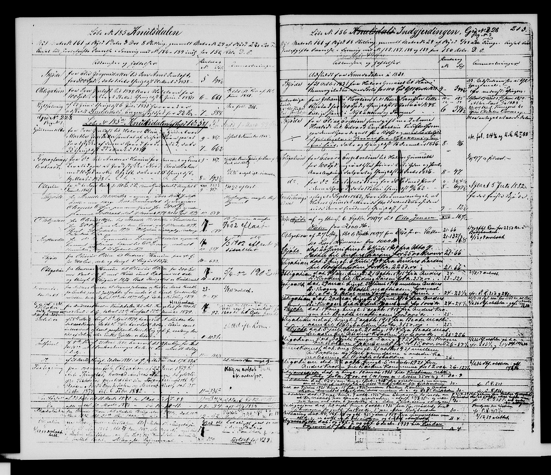 SAH, Sør-Hedmark sorenskriveri, H/Ha/Hac/Hacc/L0001: Panteregister nr. 3.1, 1855-1943, s. 213