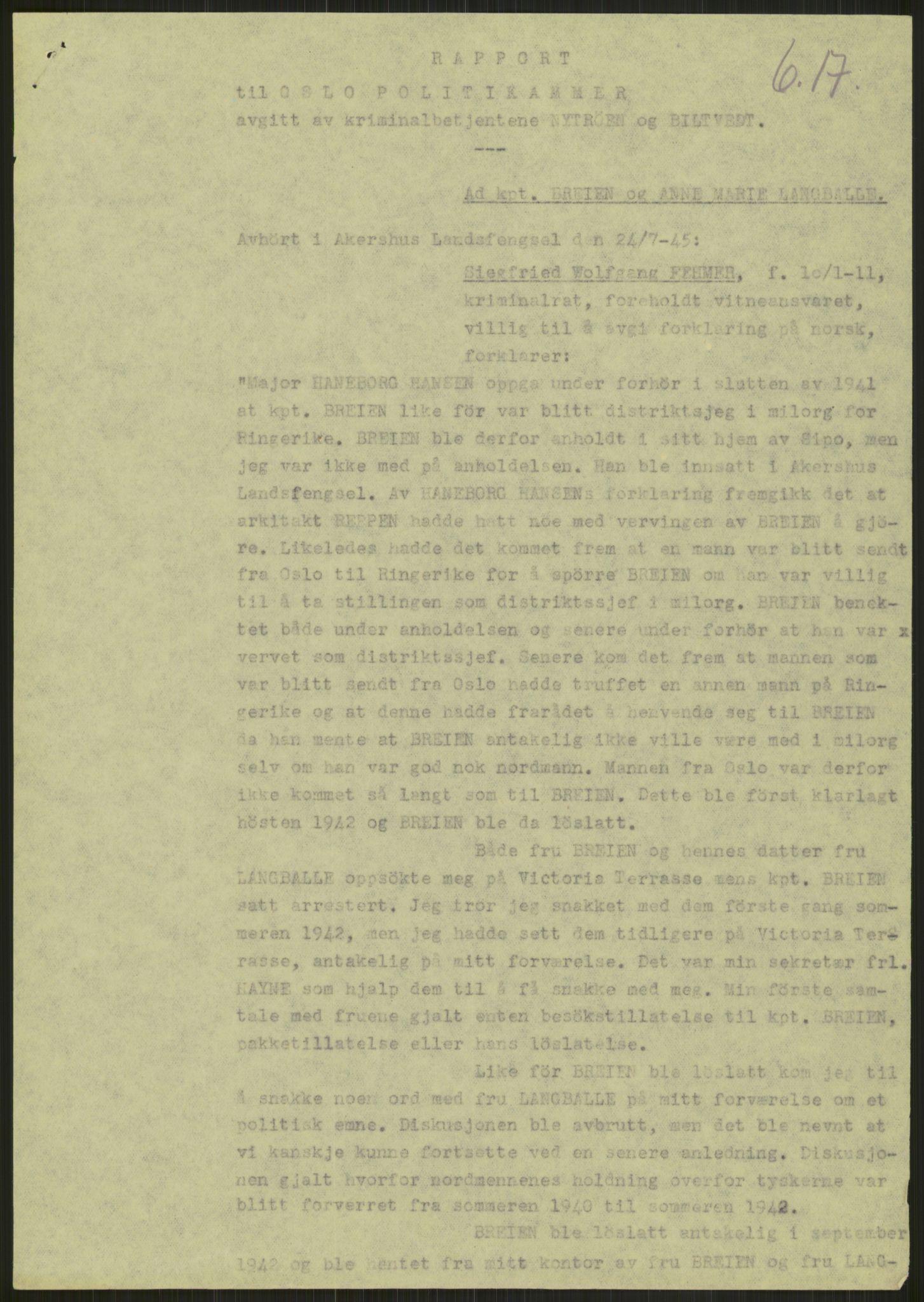 RA, Landssvikarkivet, Oslo politikammer, D/Dg/L0267: Henlagt hnr. 3658, 1945-1946, s. 49