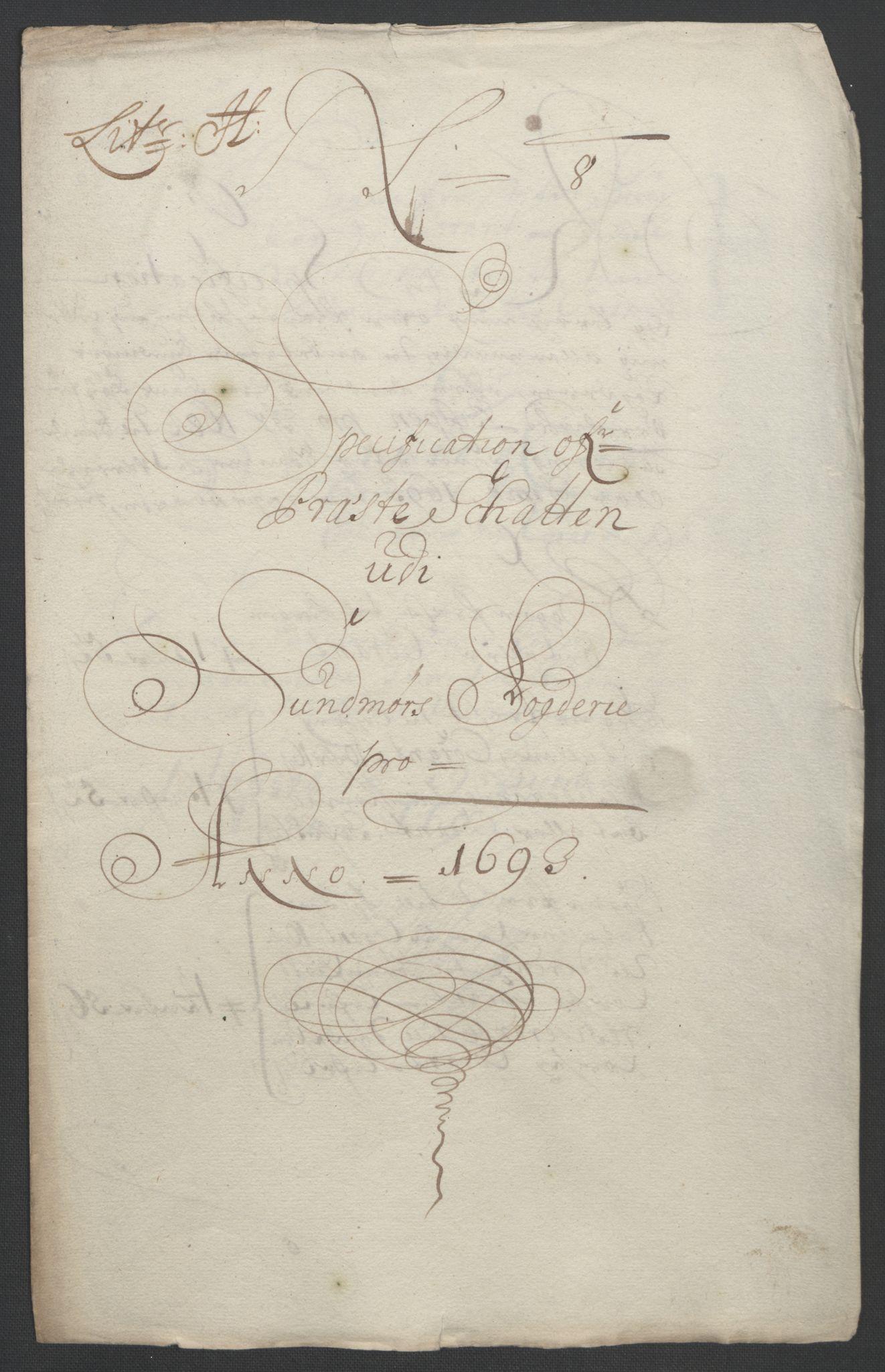 RA, Rentekammeret inntil 1814, Reviderte regnskaper, Fogderegnskap, R54/L3554: Fogderegnskap Sunnmøre, 1691-1693, s. 514