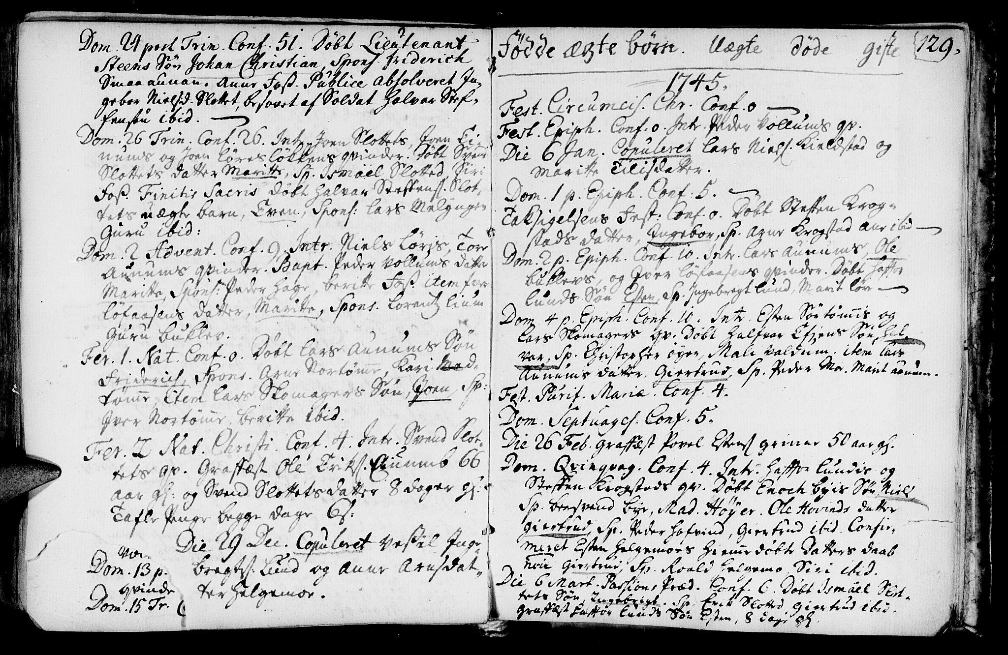 SAT, Ministerialprotokoller, klokkerbøker og fødselsregistre - Sør-Trøndelag, 692/L1101: Ministerialbok nr. 692A01, 1690-1746, s. 129