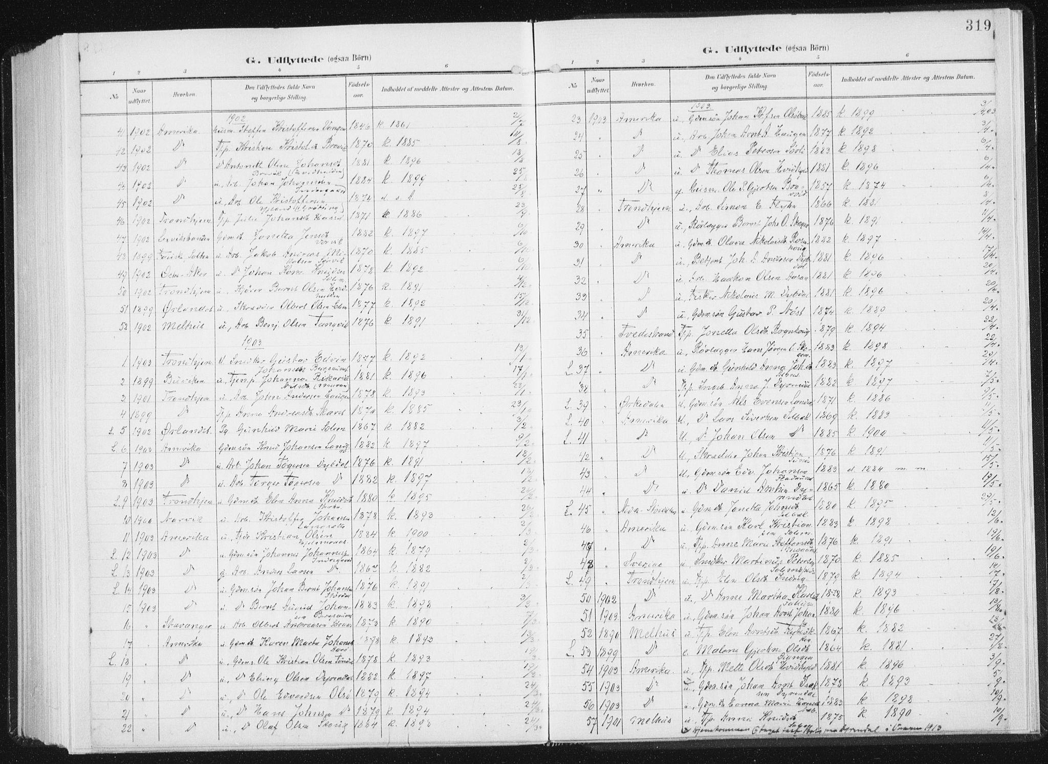 SAT, Ministerialprotokoller, klokkerbøker og fødselsregistre - Sør-Trøndelag, 647/L0635: Ministerialbok nr. 647A02, 1896-1911, s. 319