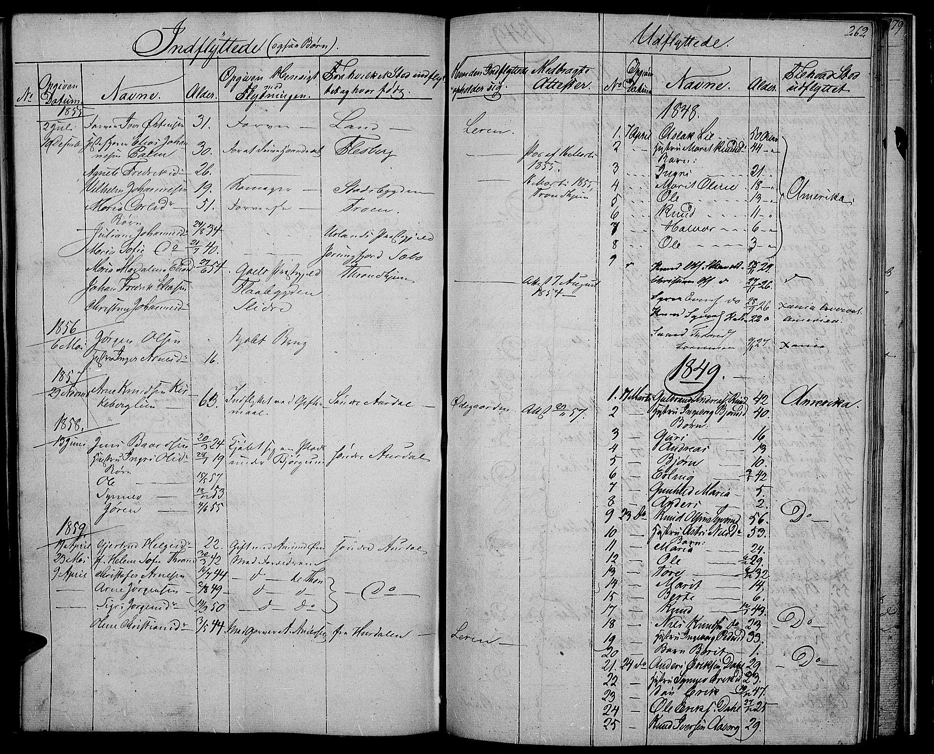 SAH, Nord-Aurdal prestekontor, Klokkerbok nr. 2, 1842-1877, s. 262