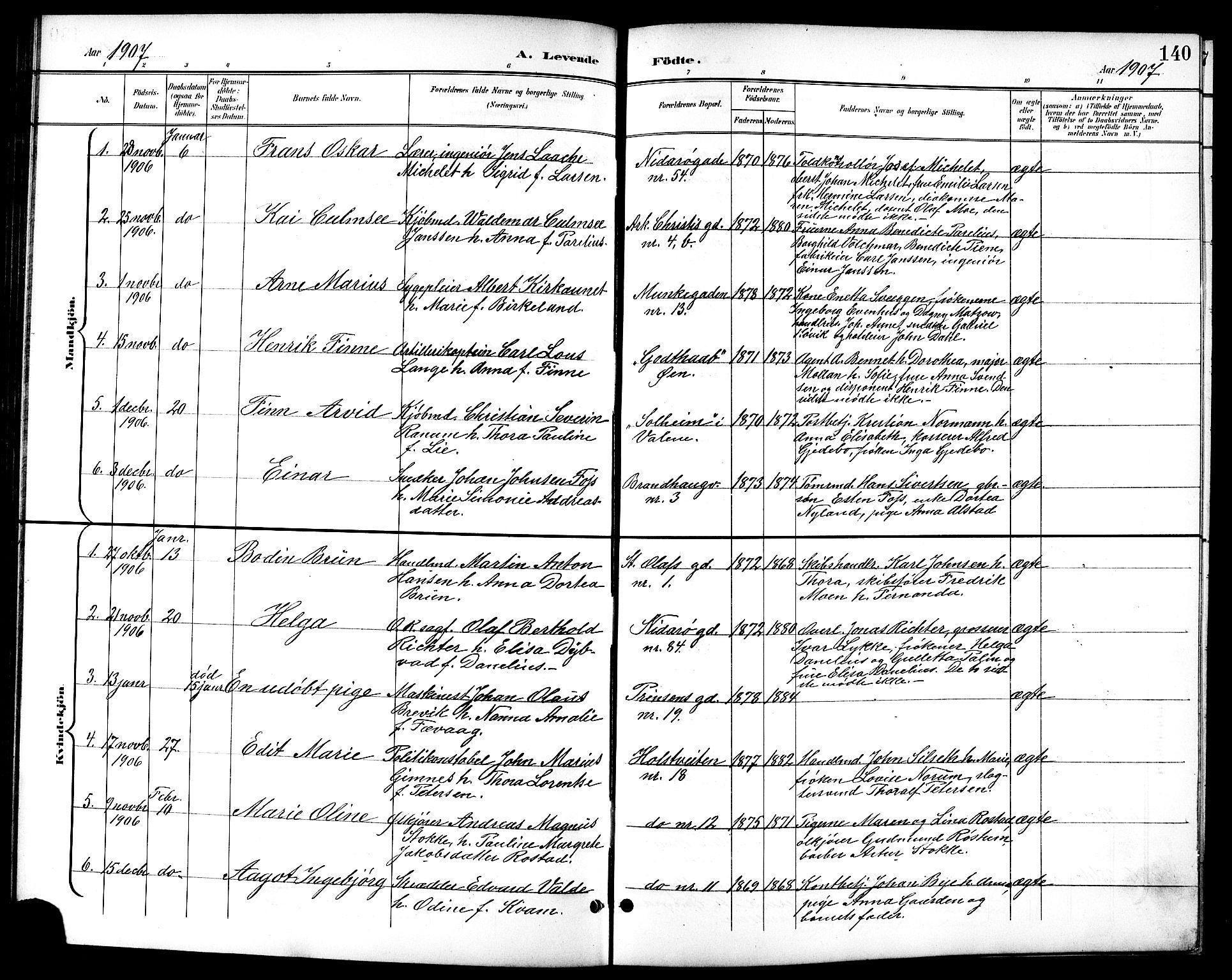 SAT, Ministerialprotokoller, klokkerbøker og fødselsregistre - Sør-Trøndelag, 601/L0094: Klokkerbok nr. 601C12, 1898-1911, s. 140