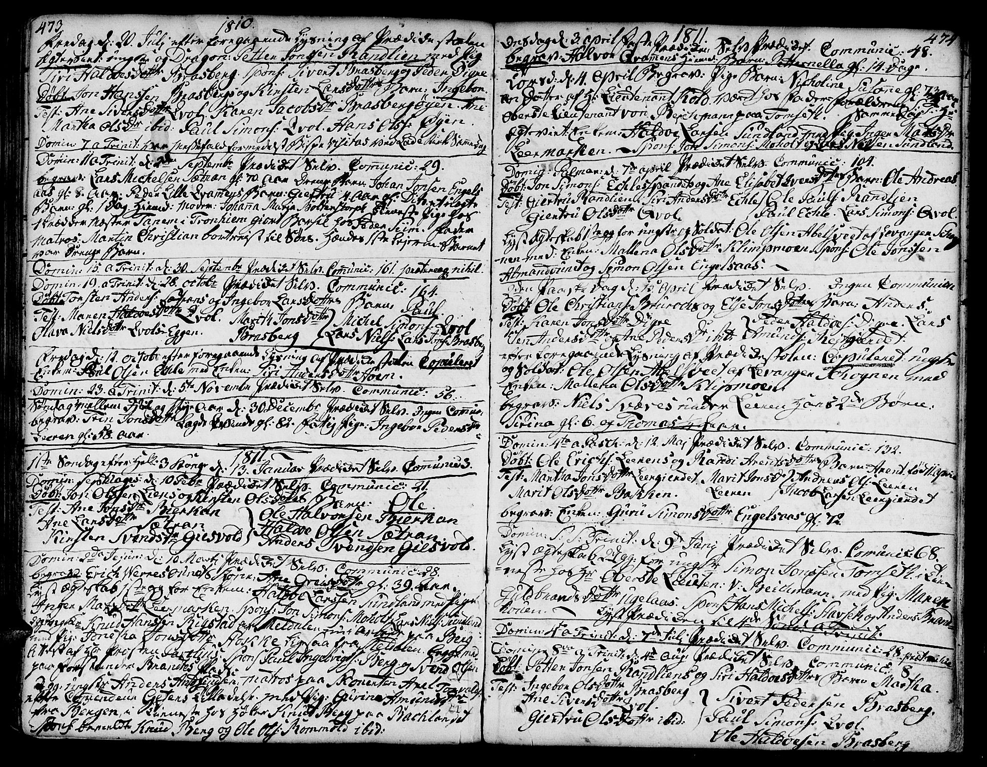 SAT, Ministerialprotokoller, klokkerbøker og fødselsregistre - Sør-Trøndelag, 606/L0282: Ministerialbok nr. 606A02 /3, 1781-1817, s. 473-474