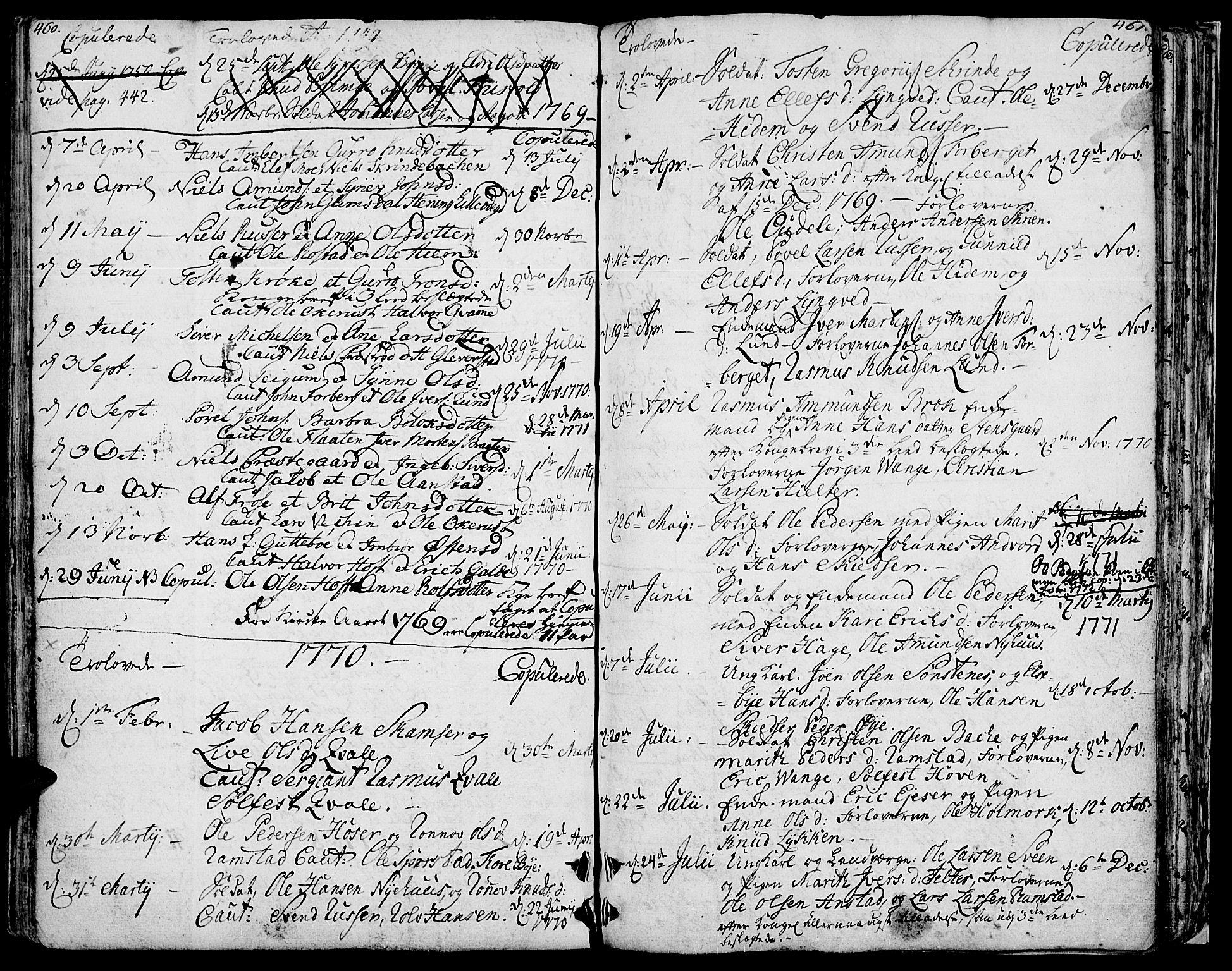 SAH, Lom prestekontor, K/L0002: Ministerialbok nr. 2, 1749-1801, s. 460-461