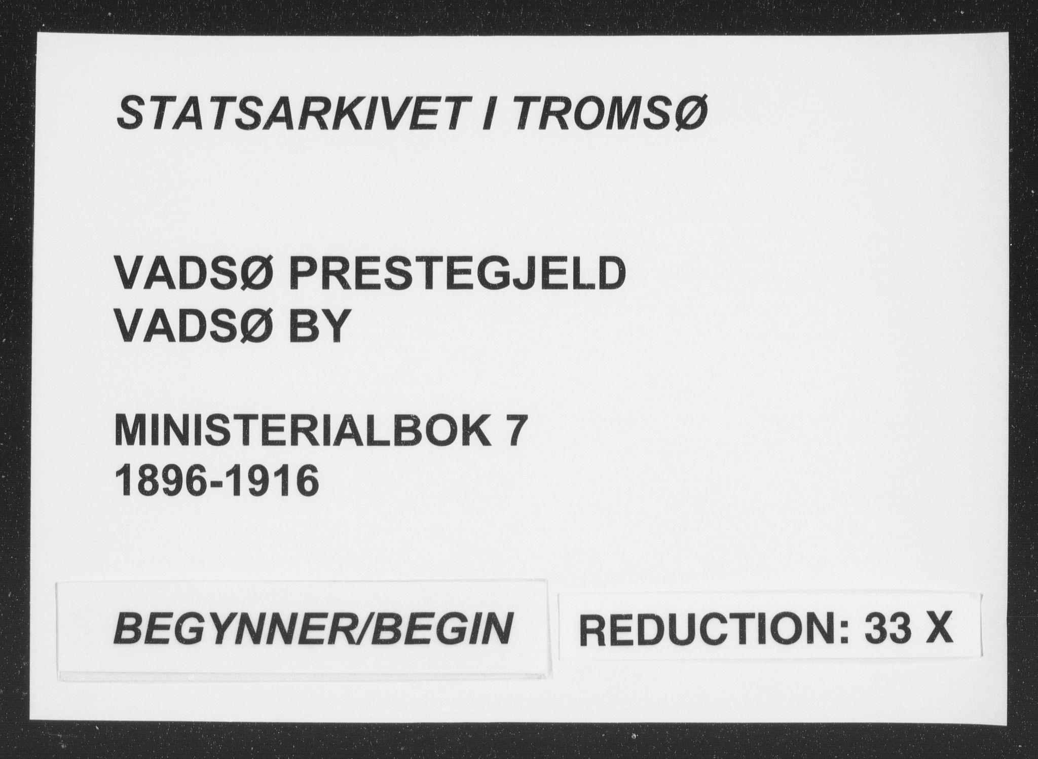 SATØ, Vadsø sokneprestkontor, H/Ha/L0007kirke: Ministerialbok nr. 7, 1896-1916