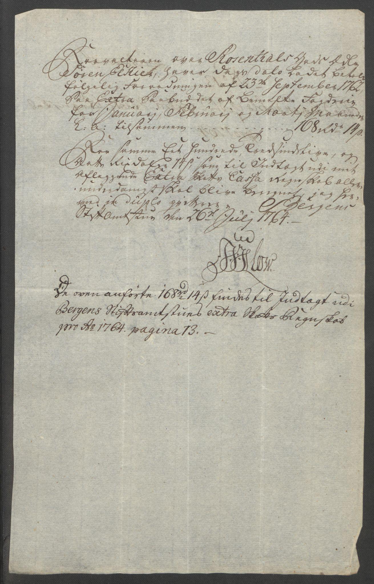 RA, Rentekammeret inntil 1814, Reviderte regnskaper, Fogderegnskap, R49/L3157: Ekstraskatten Rosendal Baroni, 1762-1772, s. 105