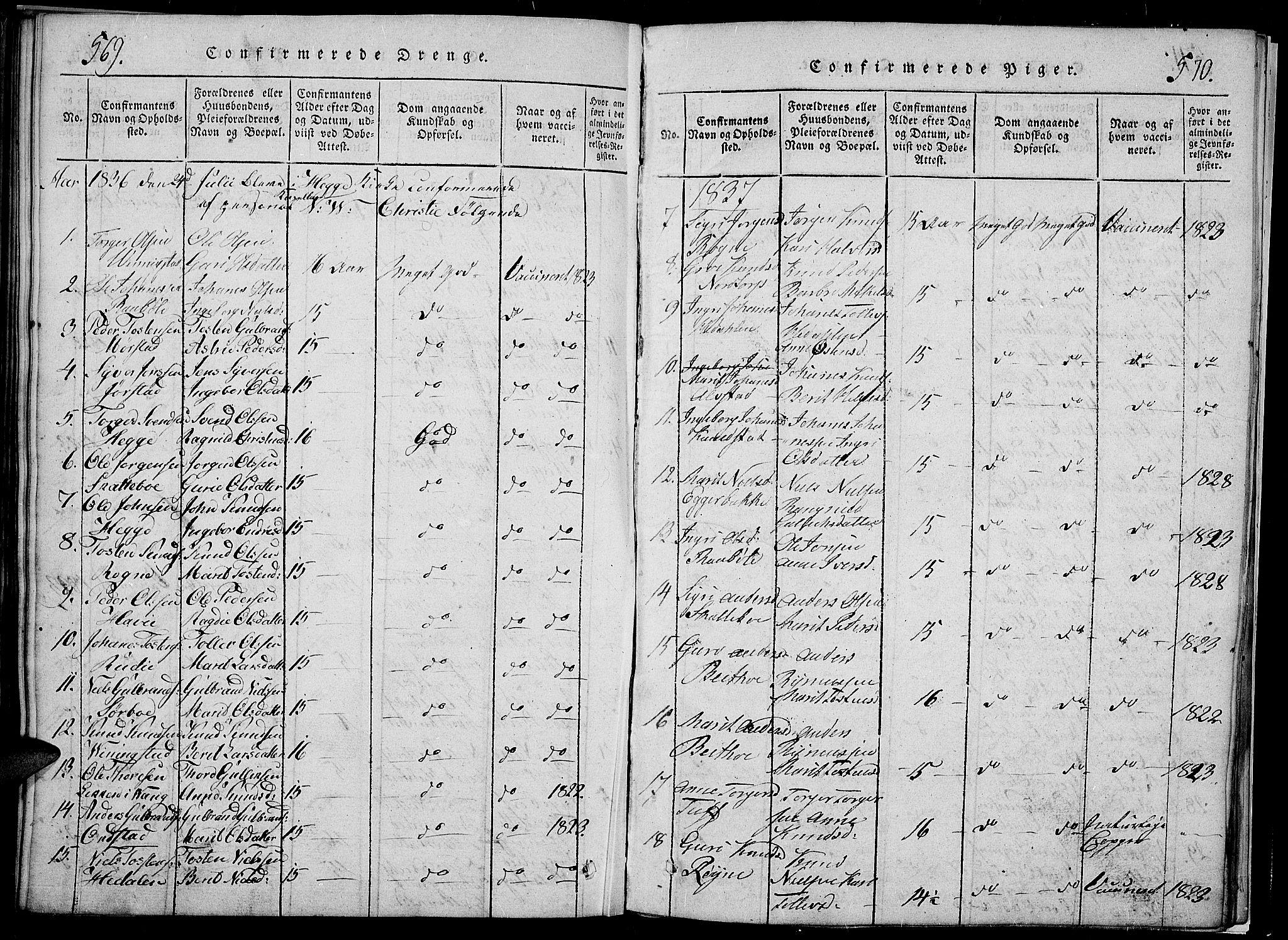 SAH, Slidre prestekontor, Klokkerbok nr. 2, 1814-1839, s. 569-570