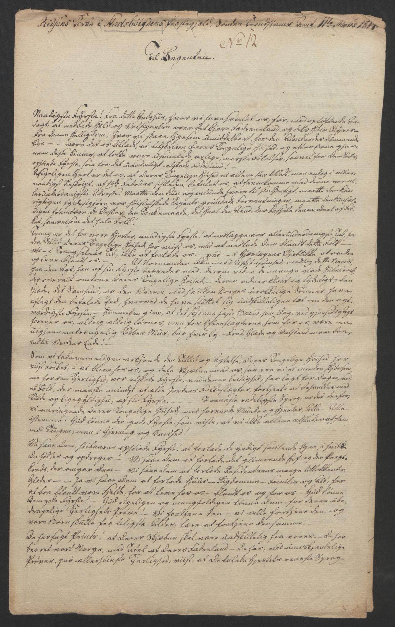 RA, Statsrådssekretariatet, D/Db/L0008: Fullmakter for Eidsvollsrepresentantene i 1814. , 1814, s. 453