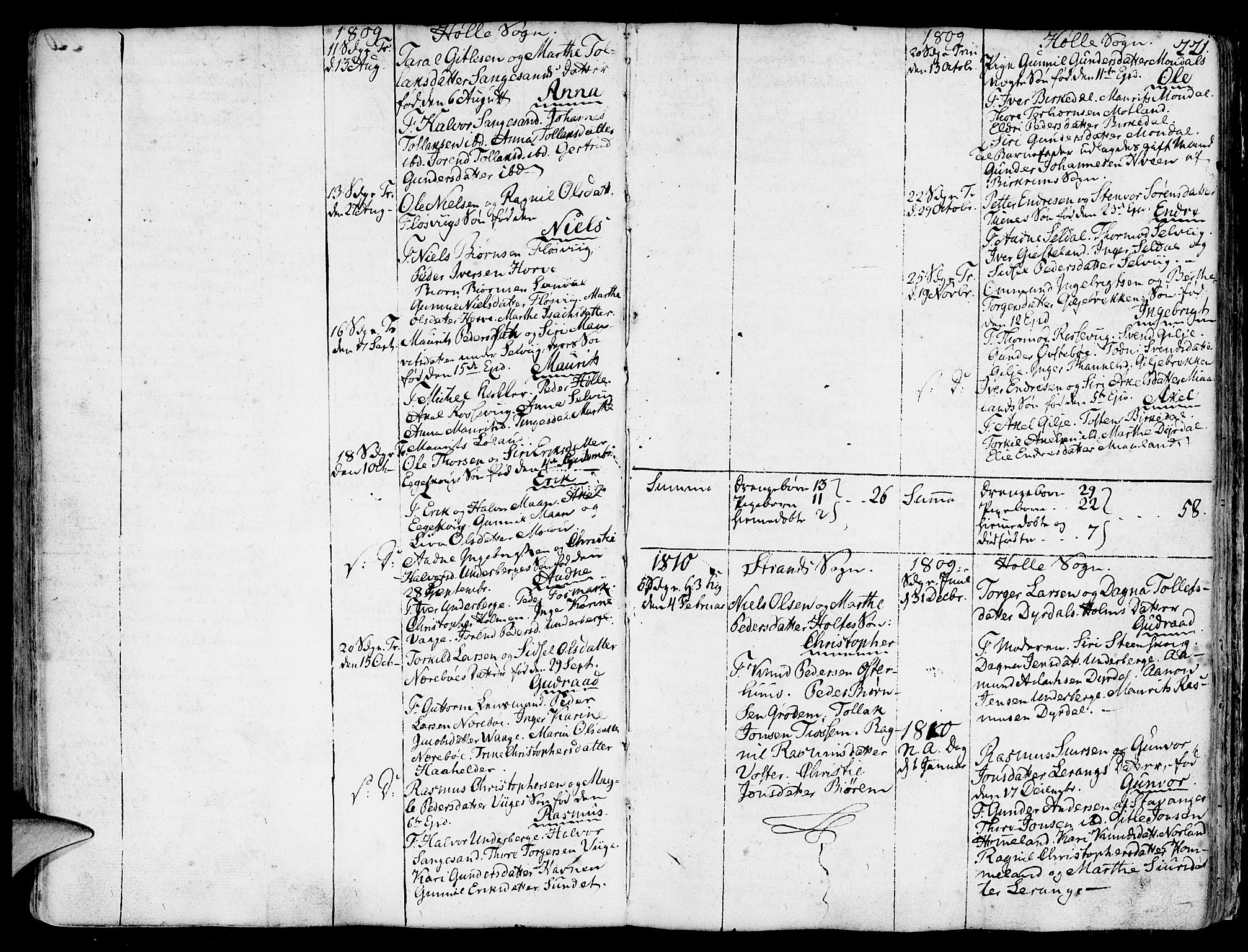 SAST, Strand sokneprestkontor, H/Ha/Haa/L0003: Ministerialbok nr. A 3, 1769-1816, s. 221