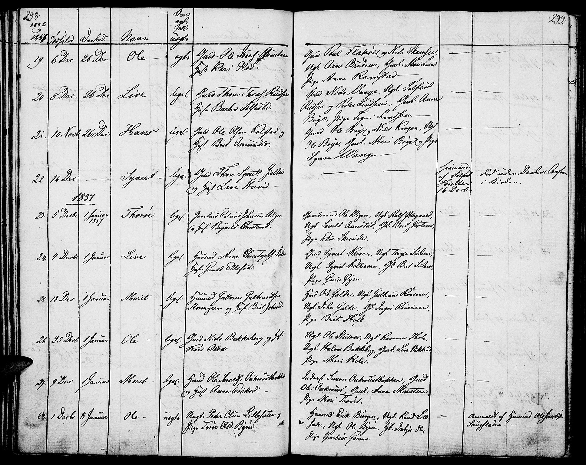 SAH, Lom prestekontor, K/L0005: Ministerialbok nr. 5, 1825-1837, s. 298-299