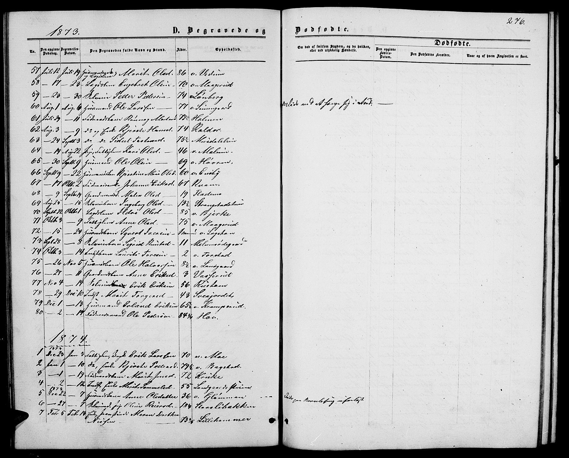SAH, Øyer prestekontor, Klokkerbok nr. 1, 1863-1877, s. 276