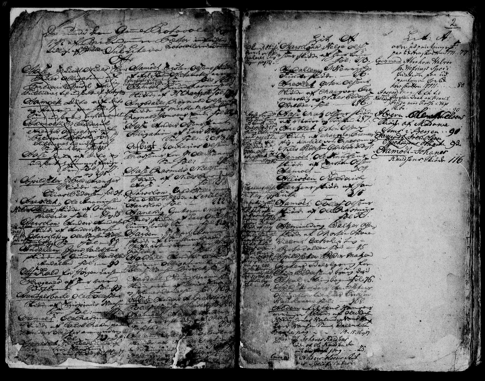 SAB, Sunnfjord tingrett, G/Gb/Gba/L0006b: Pantebok nr. II.B.6b, 1742-1769, s. 2
