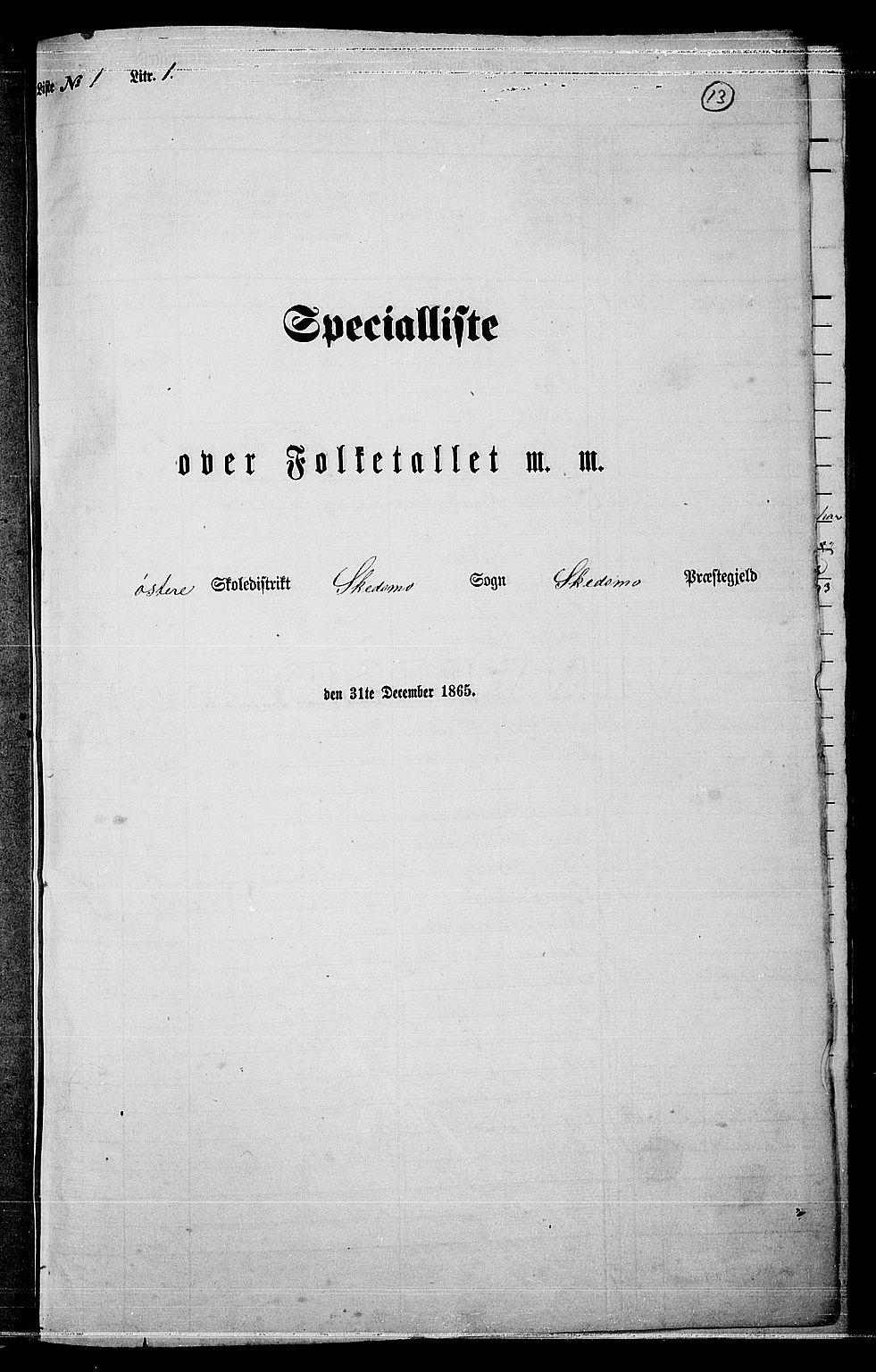 RA, Folketelling 1865 for 0231P Skedsmo prestegjeld, 1865, s. 11