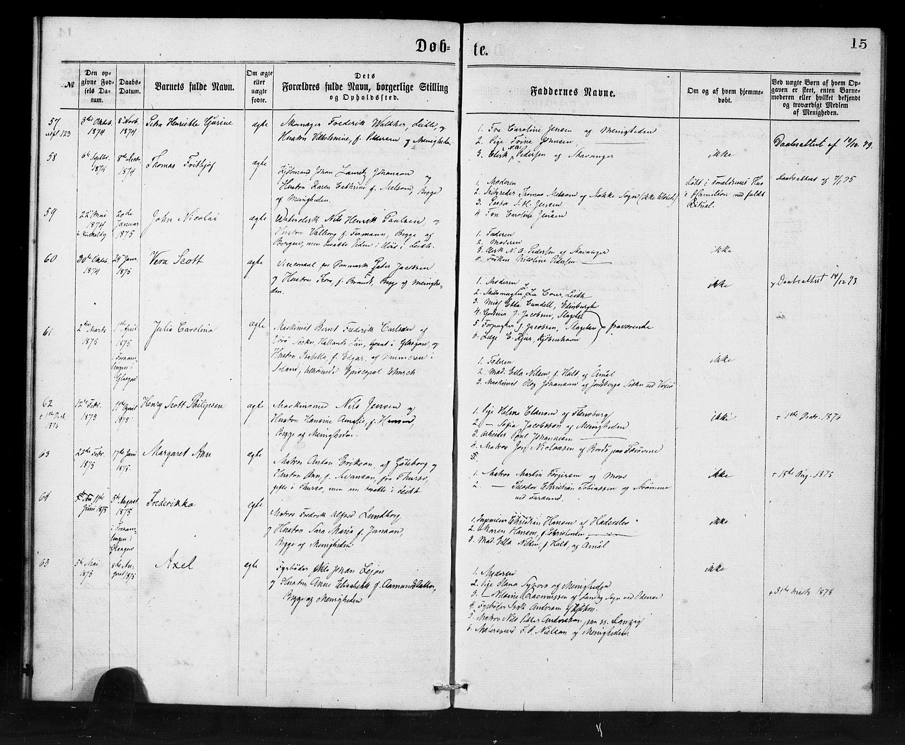 SAB, Den Norske Sjømannsmisjon i utlandet*, Ministerialbok nr. A 1, 1865-1880, s. 15