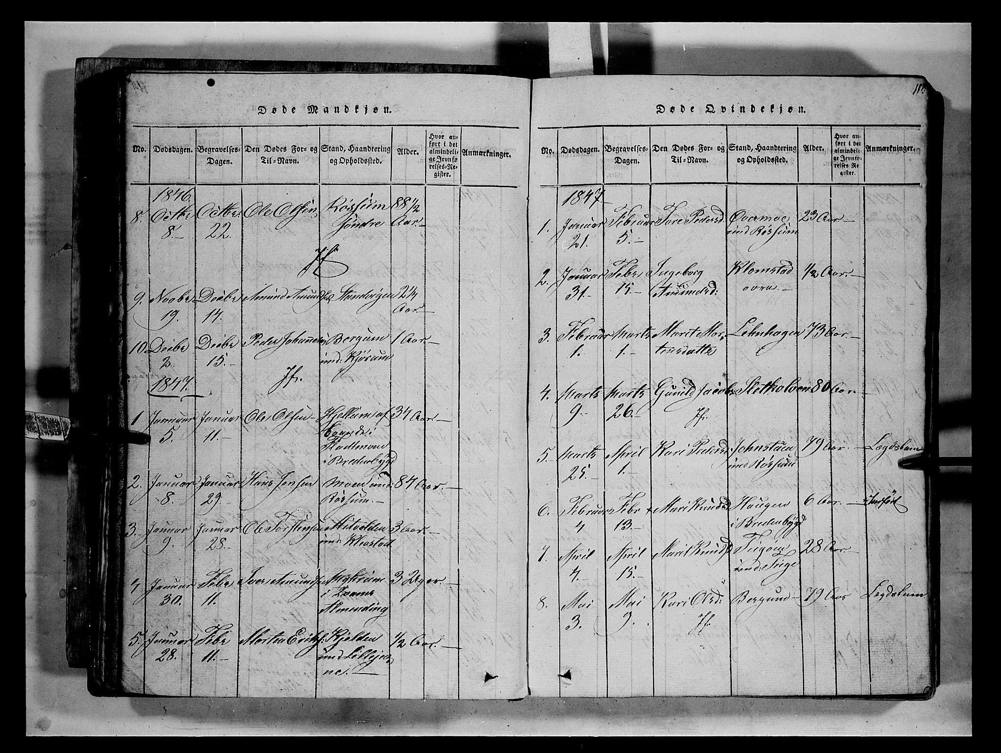 SAH, Fron prestekontor, H/Ha/Hab/L0002: Klokkerbok nr. 2, 1816-1850, s. 115