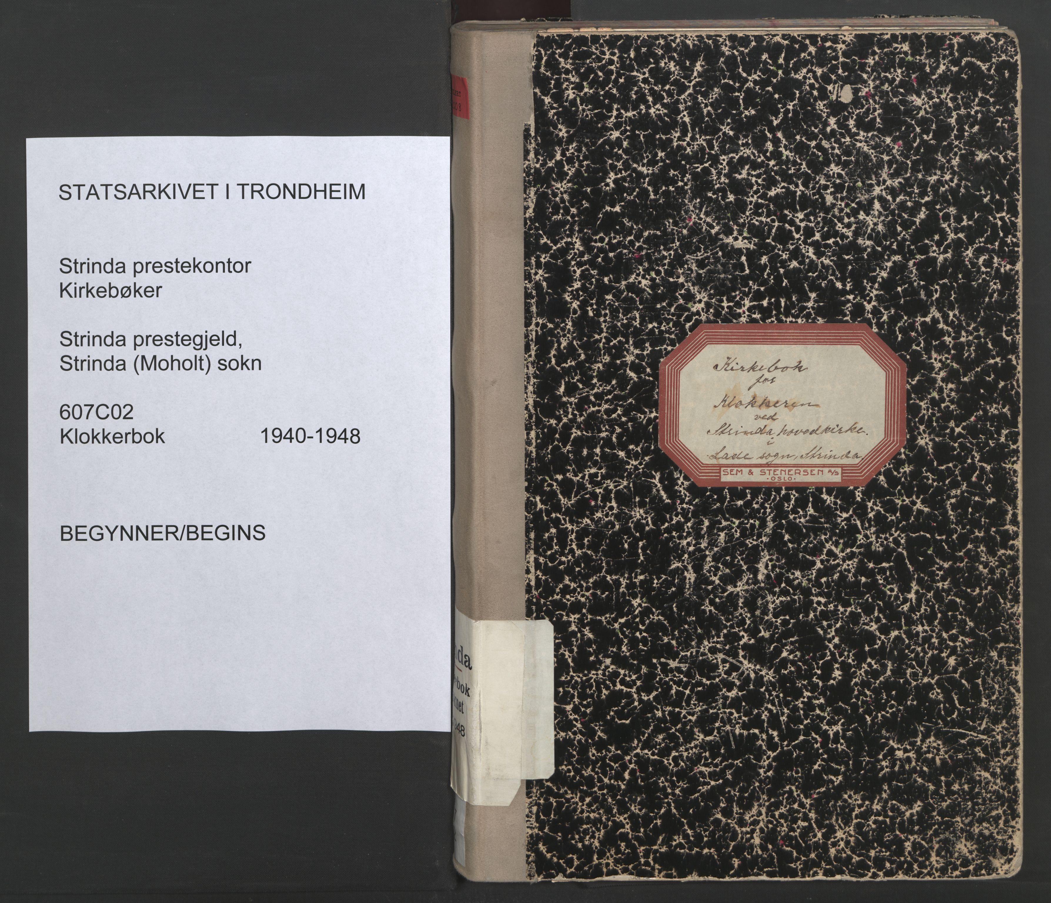 SAT, Ministerialprotokoller, klokkerbøker og fødselsregistre - Sør-Trøndelag, 607/L0328: Klokkerbok nr. 607C02, 1940-1948