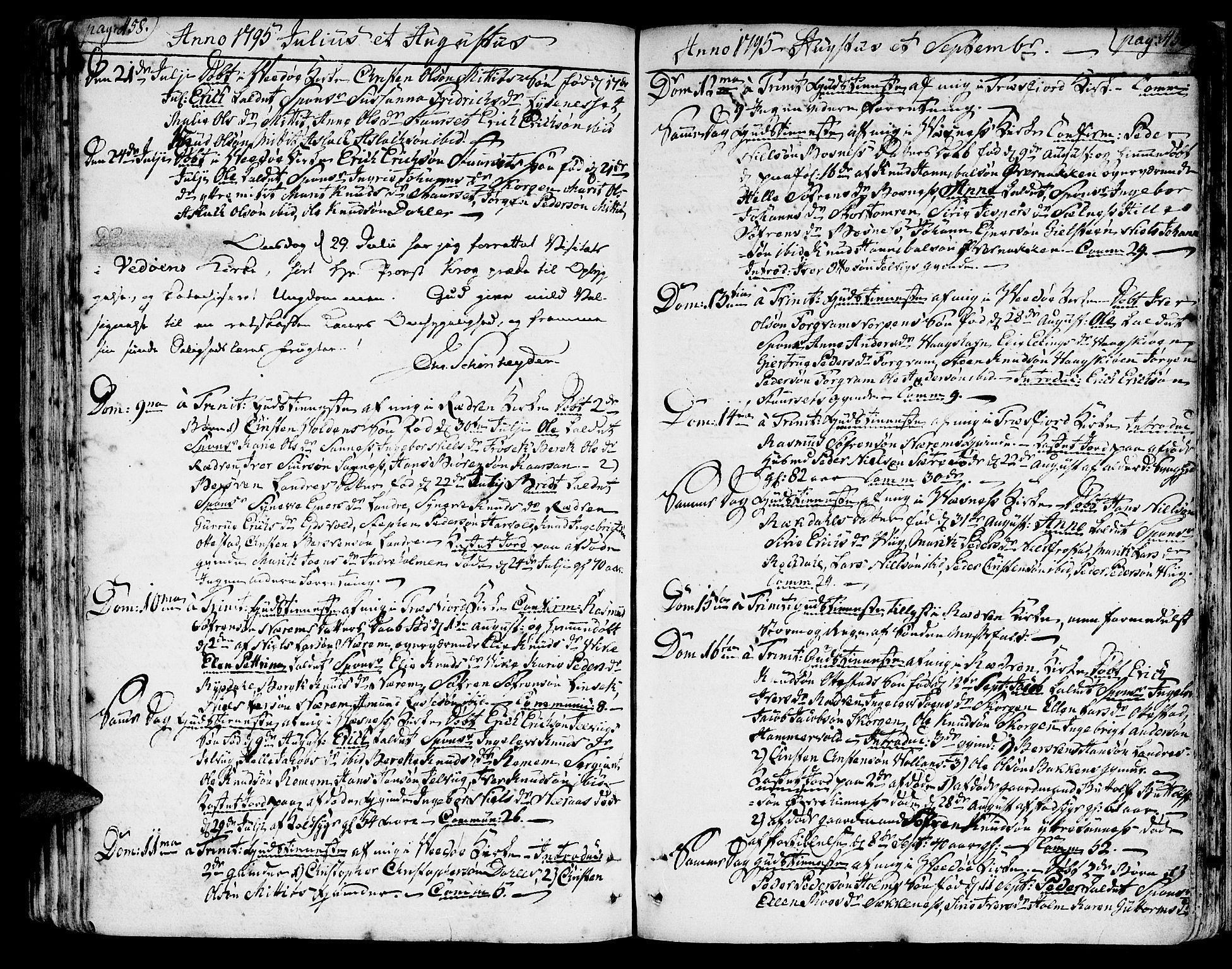 SAT, Ministerialprotokoller, klokkerbøker og fødselsregistre - Møre og Romsdal, 547/L0600: Ministerialbok nr. 547A02, 1765-1799, s. 458-459